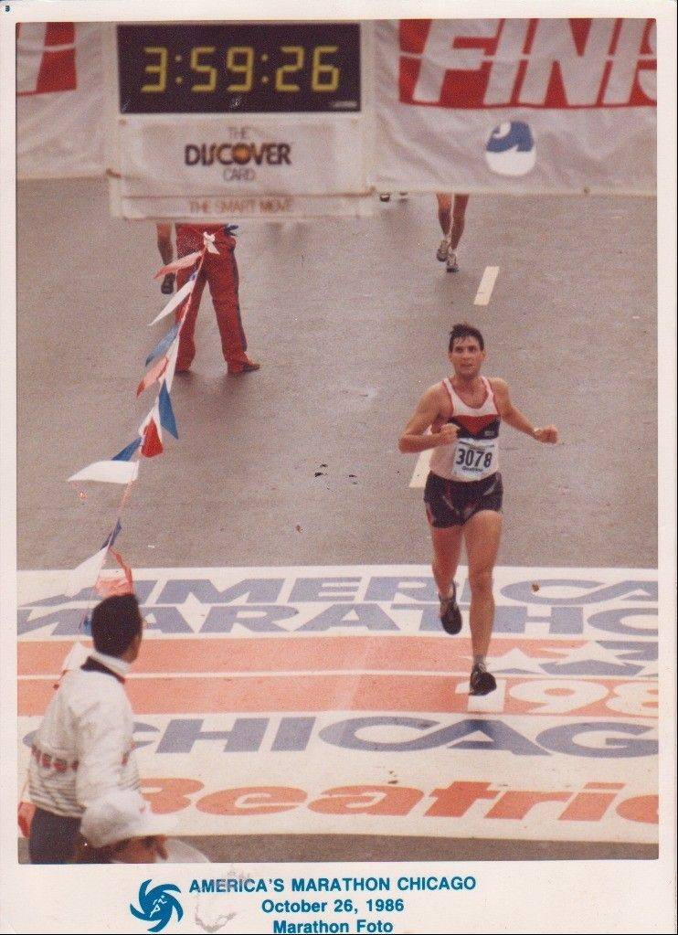 An avid runner, Bob Gregory of Lincolnshire finished the 1986 Chicago Marathon in under four hours. In a wheelchair now due to his multiple sclerosis, Gregory hopes for a cure and the chance to walk again, or maybe even run.