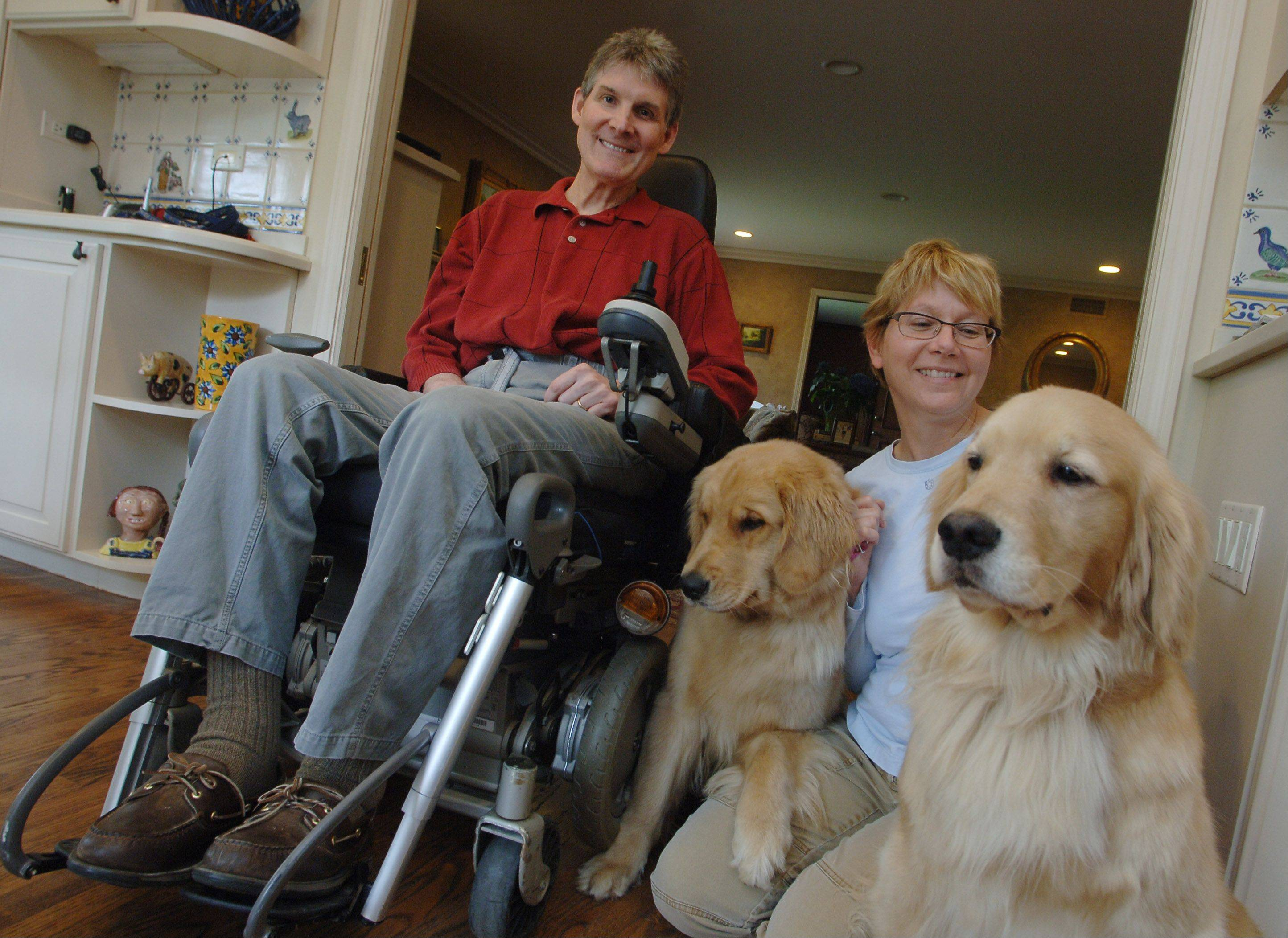 Multiple sclerosis put Bob Gregory in a wheelchair in 1995, but the Lincolnshire resident says he expects a cure that will get him back on his feet. With the ever-present help of his wife, Pat, (and maybe even golden retrievers Mary Rose and Dee Rose), the Gregorys will host a walk May 6 that aims to raise more than $30,000 to cure MS.