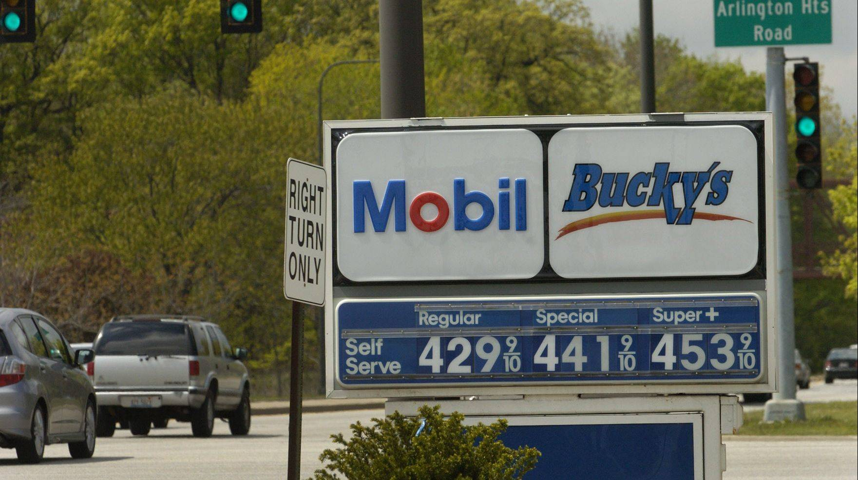 Prices at this Elk Grove Village Mobil station reflect high gas costs across the region. Experts say that because they're so tied to geopolitical events, there's no way of knowing which direction gas prices will head in the future.