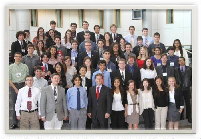 U.S. Congressman Robert Dold, front row, fourth from left, hosted a recent Model Congress for area high school students. Dold represents the 10th District of Illinois.