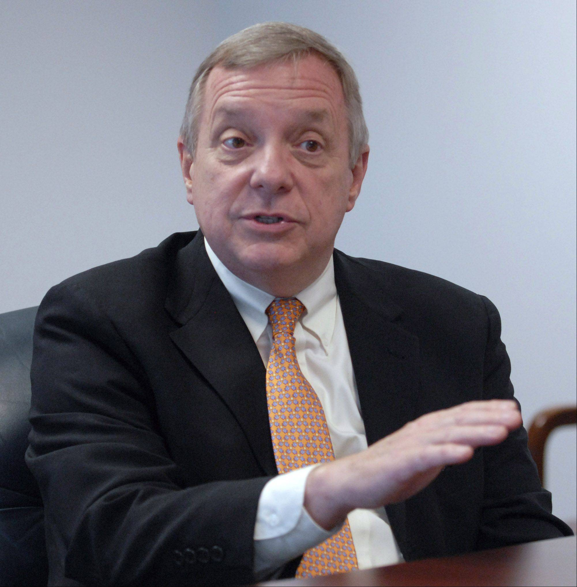 U.S. Senator Dick Durbin was in Schaumburg Tuesday to meet with village and business leaders from Schaumburg, Hoffman Estates and other Northwest suburban communities about economic and workforce development in the region.