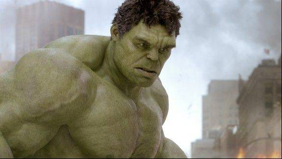 "The Hulk (played by Mark Ruffalo as his human alter-ego) tries to save the world in ""Marvel's The Avengers."""