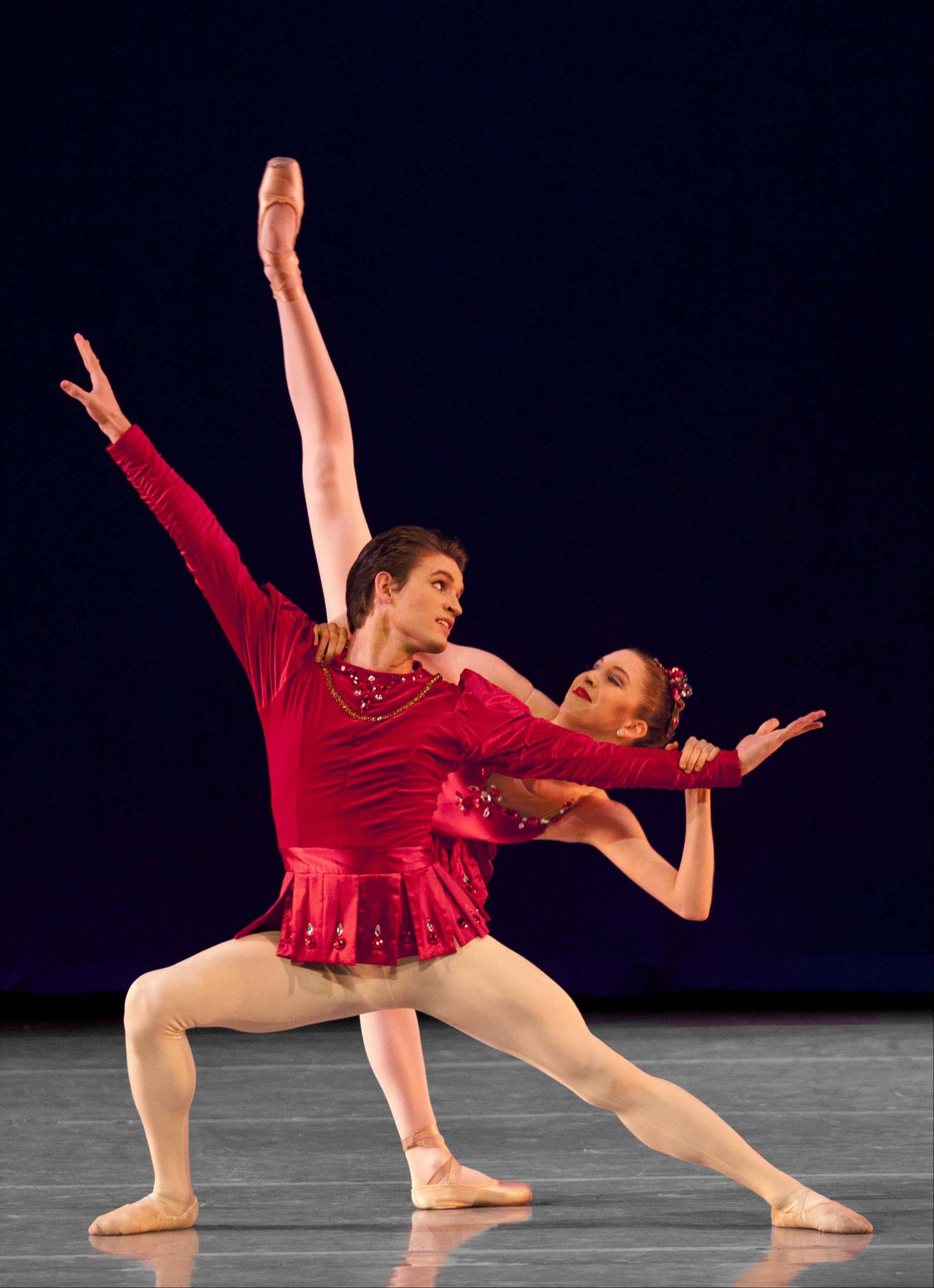"Ballet Chicago performs ""Balanchine Masterworks"" featuring ""Concerto Barocco,"" ""Rubies"" and ""Who Cares"" at Millennium Park's Harris Theater for Music and Dance in Chicago."