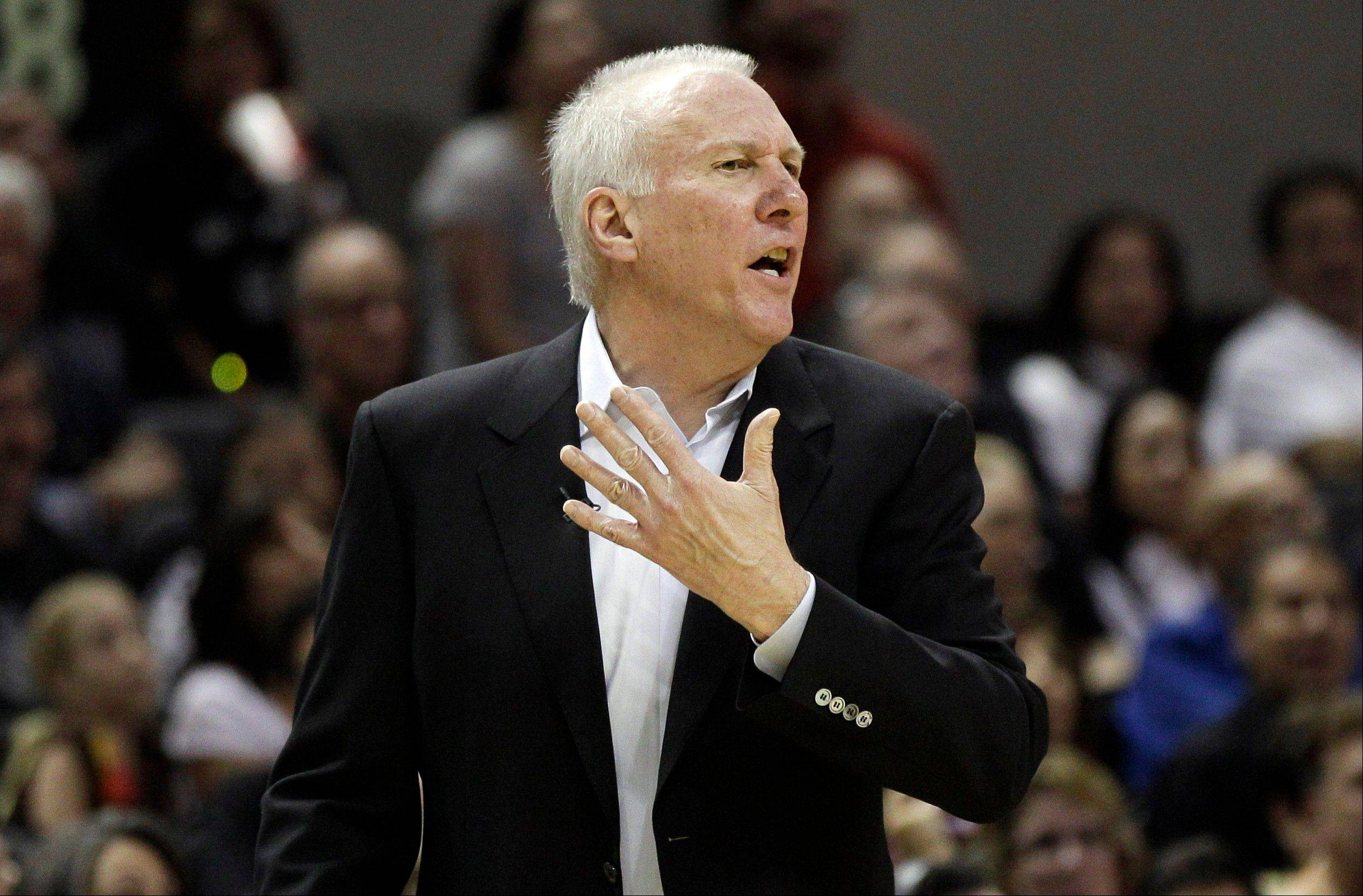 San Antonio Spurs head coach Gregg Popovich won Coach of the Year honors Tuesday over runner-up Tom Thibodeau of the Chicago Bulls. Both coaches led their teams to 50-16 records in the regular season.