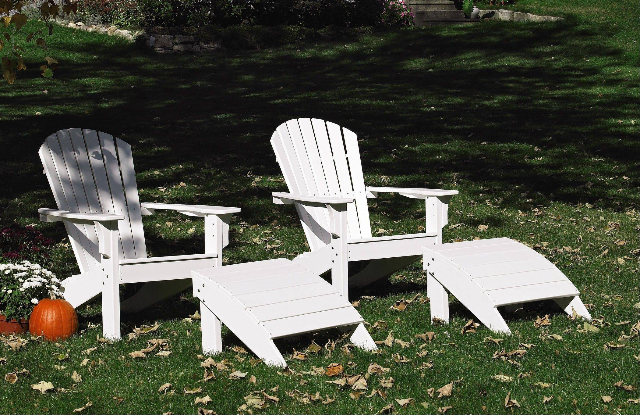 Seaside Casual Furniture makes its Adirondack chairs a little higher than the traditional style to make it easier to get in and out.