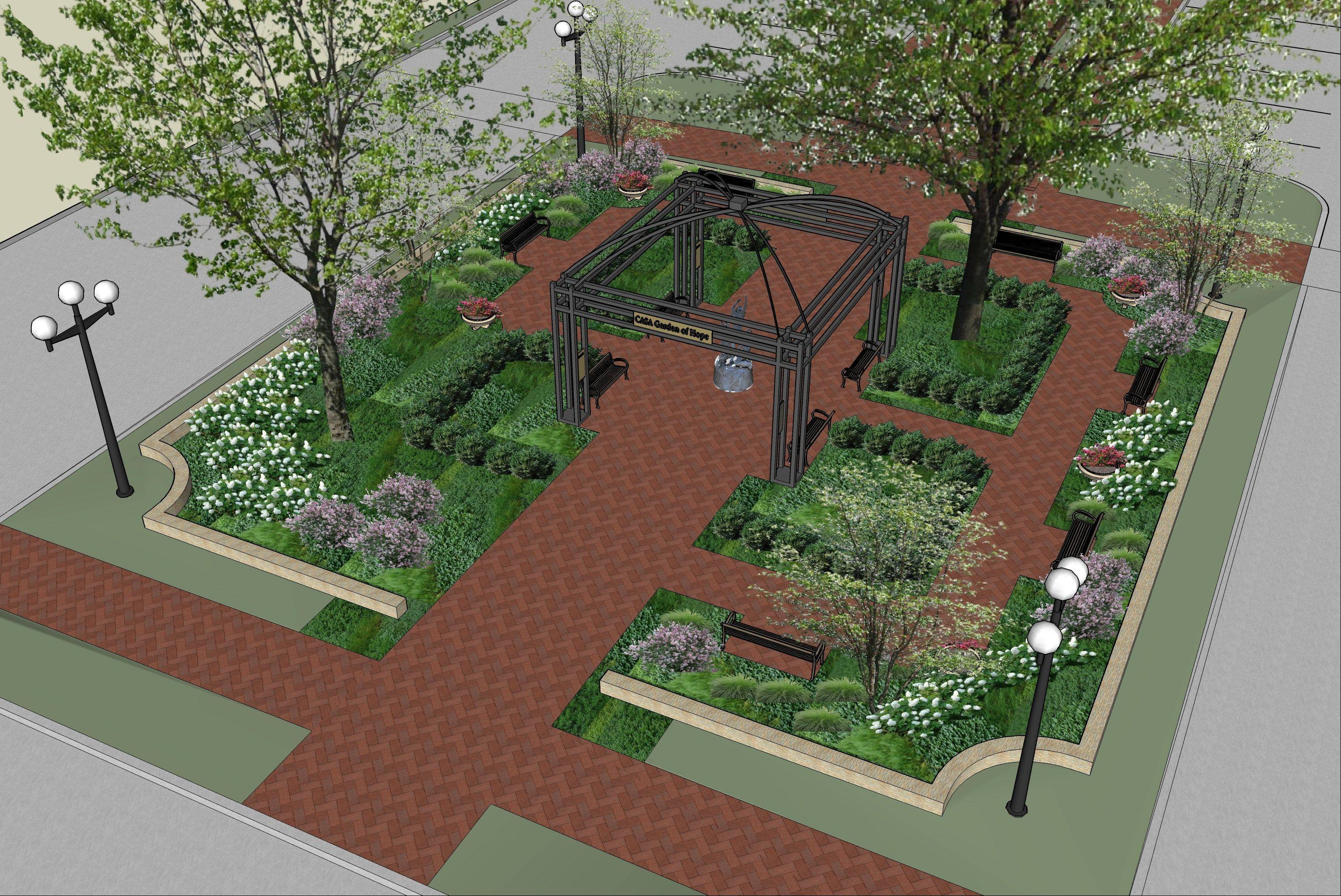 Construction on a 4,100-square-foot garden on the west side of the old courthouse on Third Street in Geneva will begin July 1. CASA Kane County hopes sponsorships and naming opportunities at the garden can boost its endowment fund. Officials also say the garden will provide a place for residents and court personnel to relax and reflect.