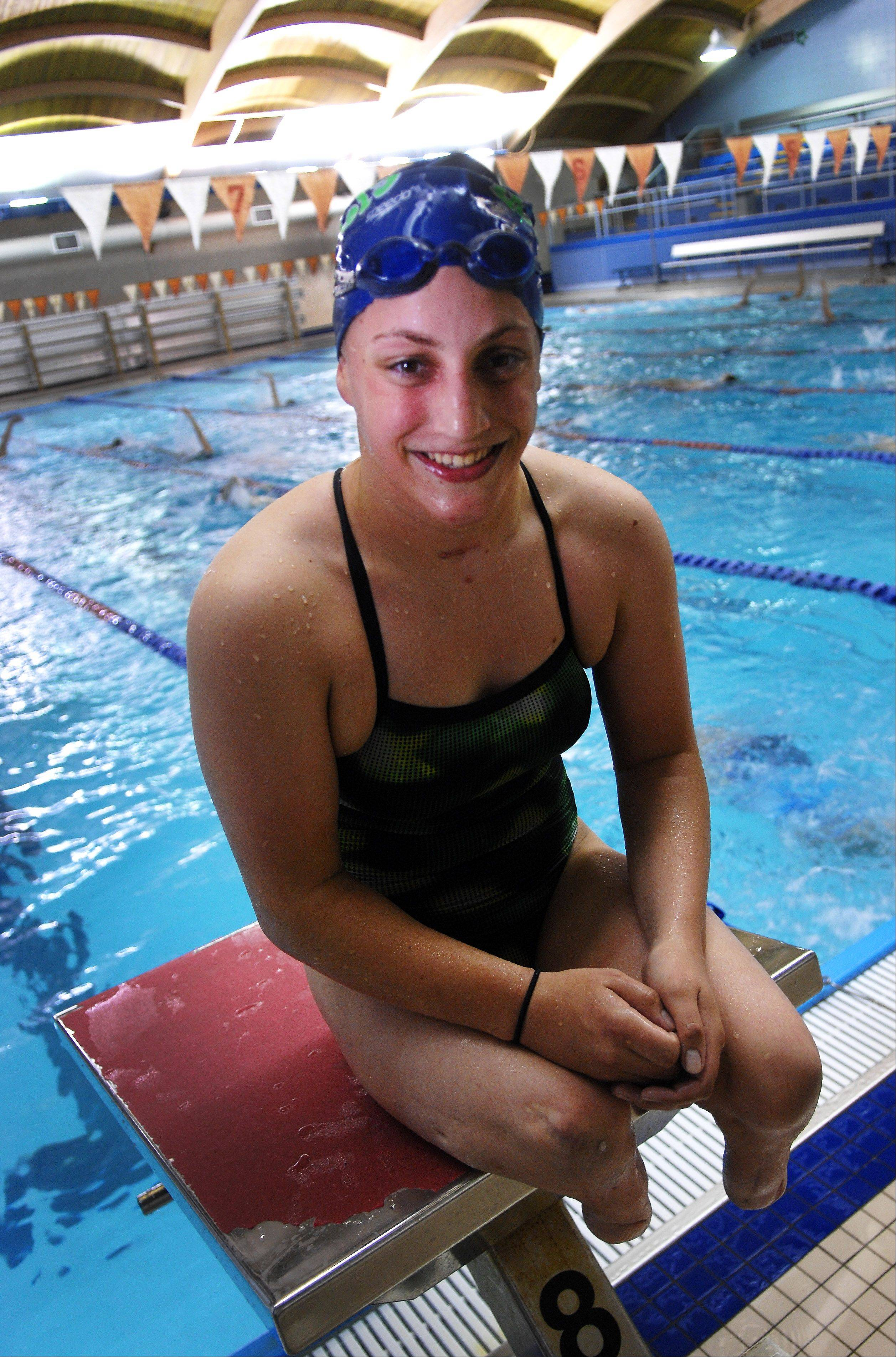 Swimmer Amy Chapman of Batavia will try to clinch a spot on Team USA for the Paralympic Games in London. She swims with the Academy Bullets Swim Club out of Aurora, where everyone sees her as an inspiration and model of perseverance.