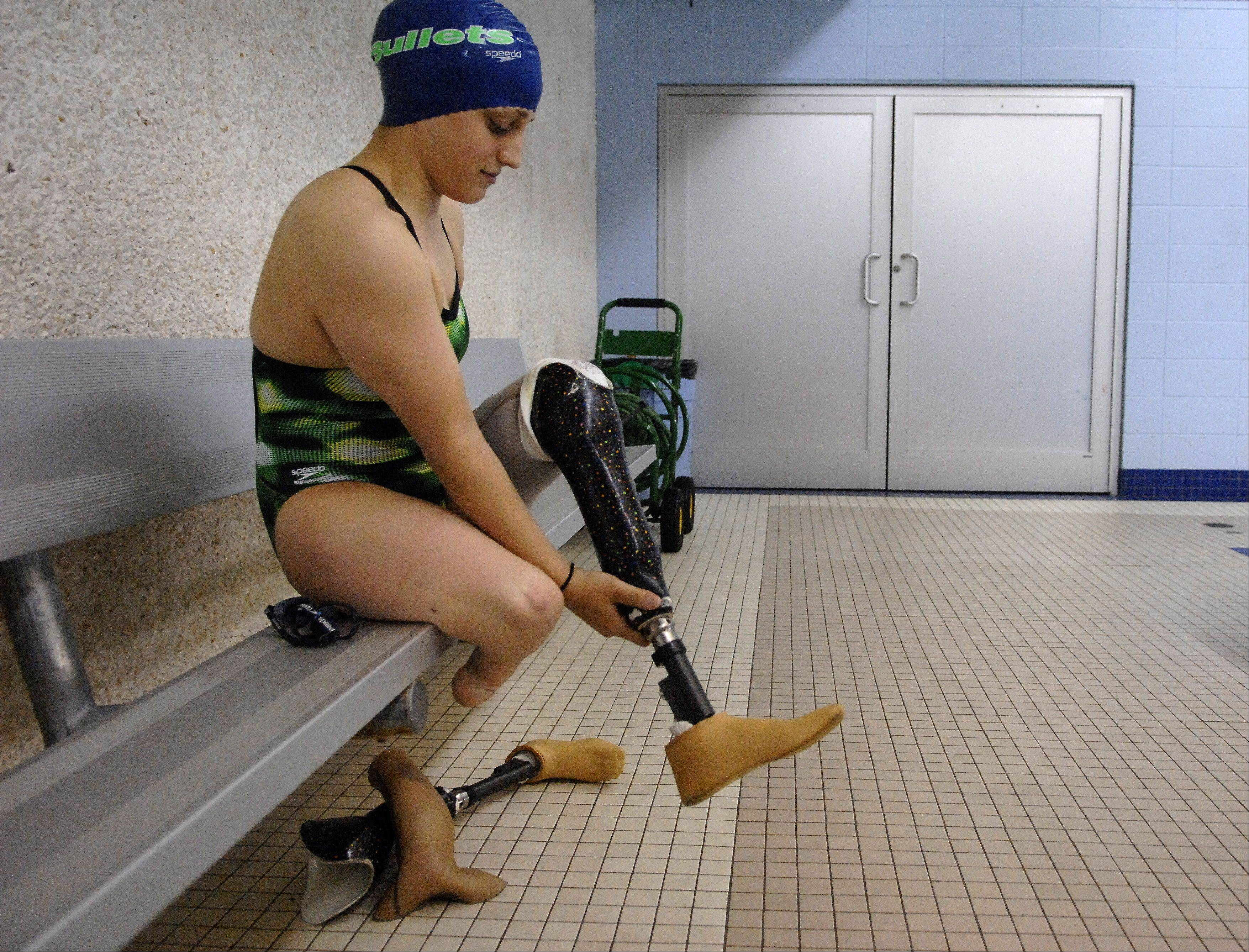 Swimmer Amy Chapman of Batavia is 17th in the world in the 100-meter breast stroke in her disability classification. She set a record at the Parapan American Games held last November in Mexico.