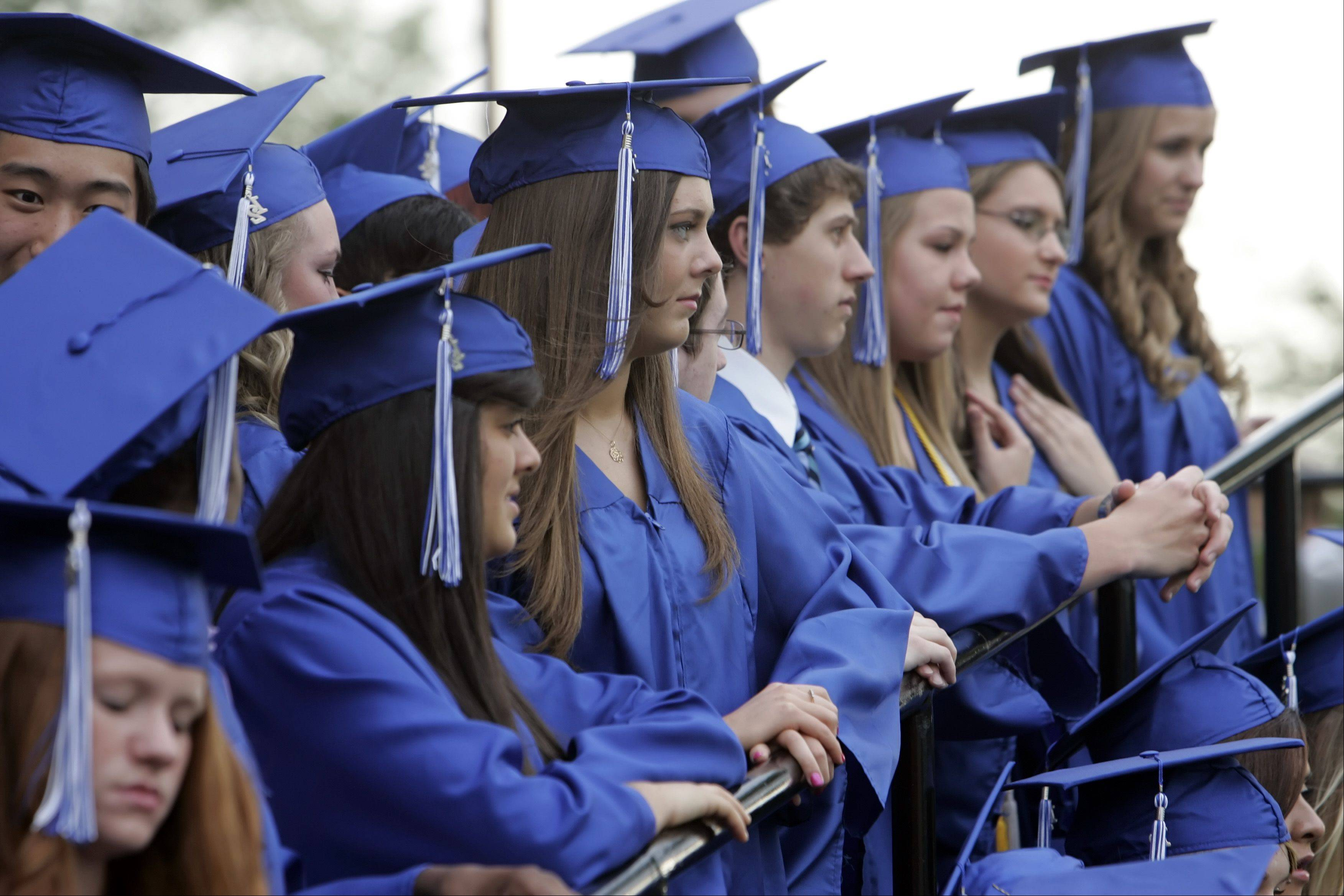 Images from the Westminster Christian High School graduation ceremony Friday, May 25, 2012 in Elgin.