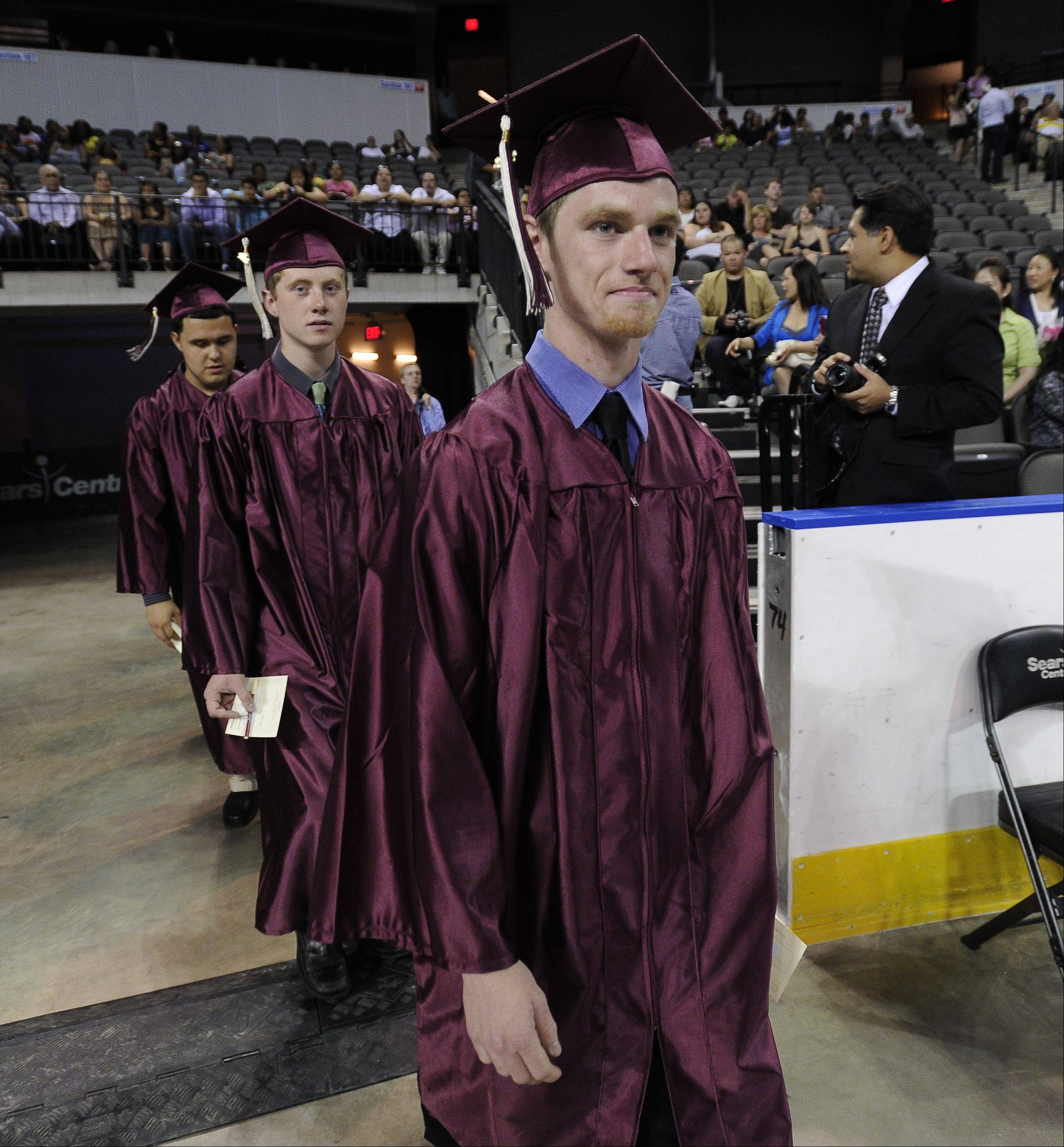 Images from the Elgin High School graduation Saturday, May 26, 2012 at the Sears Centre in Hoffman Estates.