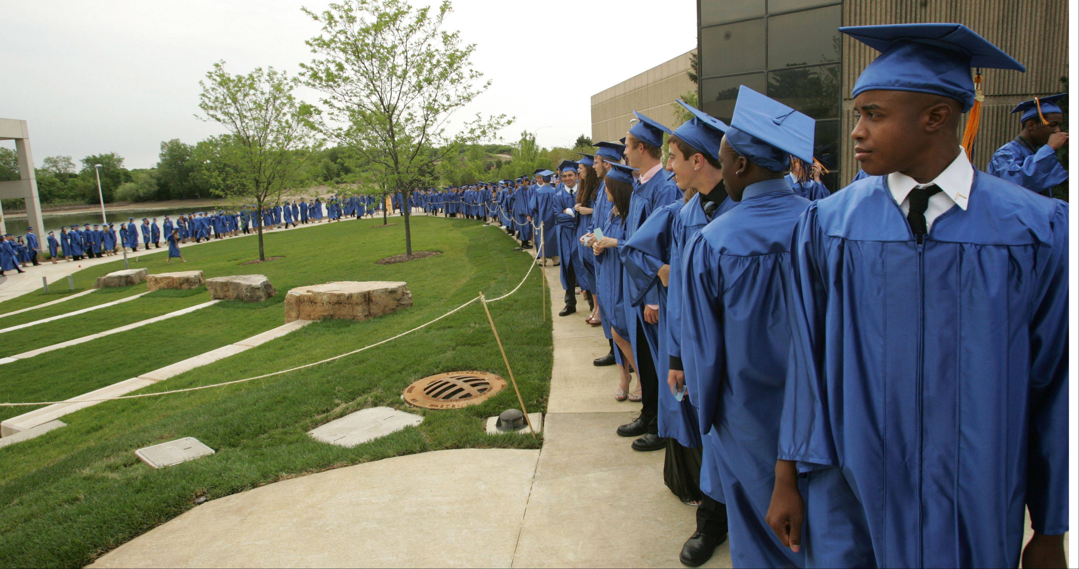 507 Students became graduates at the 2012 Wheaton North High School commencement, held at College of DuPage in Glen Ellyn.