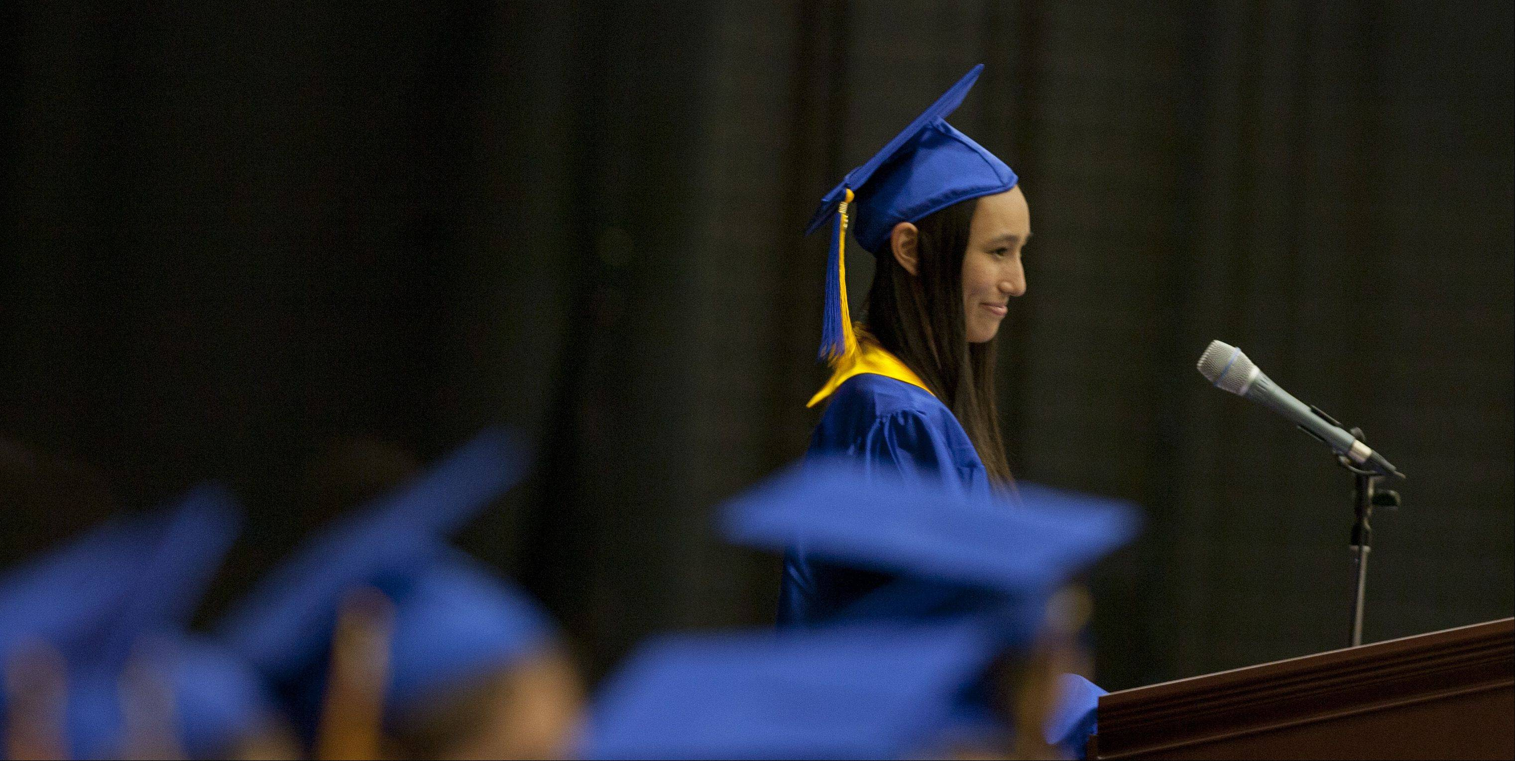 Wheaton North High School held its graduation ceremony Saturday at The College of DuPage in Glen Ellyn.