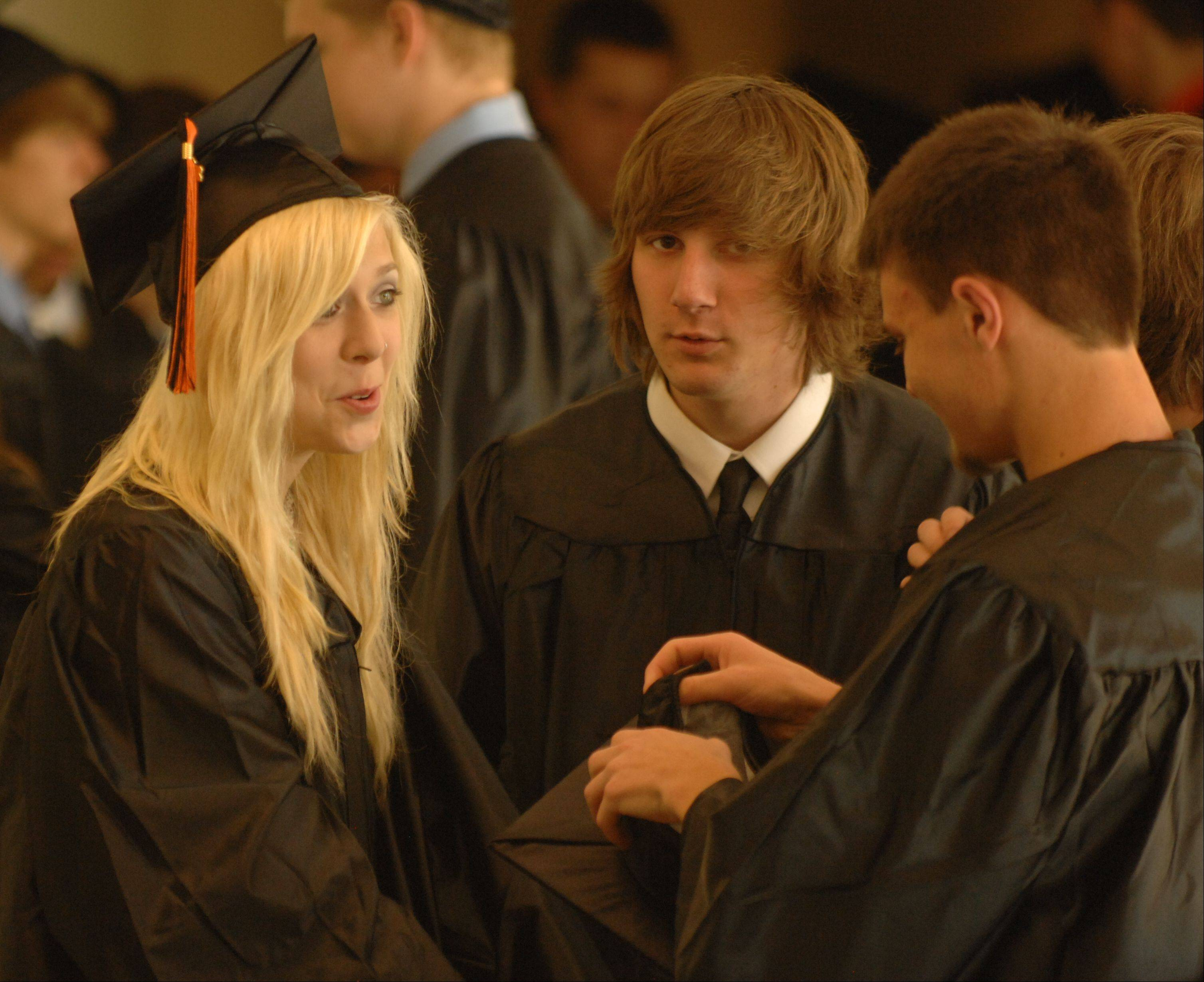 Wheaton Warrenville South High School held its graduation ceremony Saturday at The College of DuPage in Glen Ellyn.