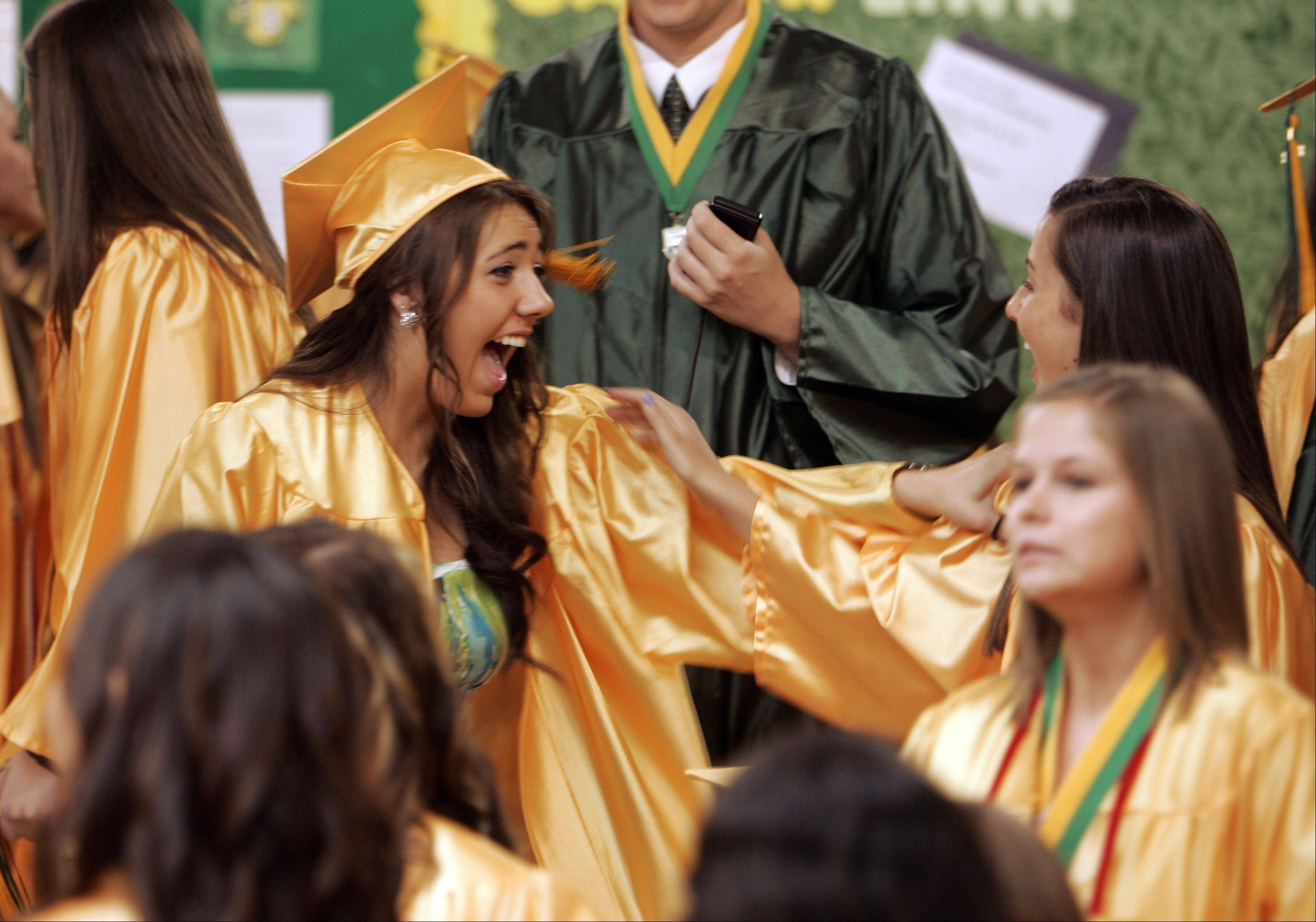 Images from the Crystal Lake South High School graduation Saturday, May 26, 2012.