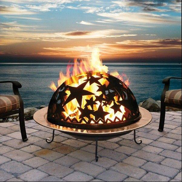 A copper fire pit would add warmth and atmosphere to summer evenings.