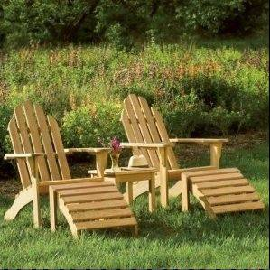 Adirondack chairs would be a finishing touch on the transformation.