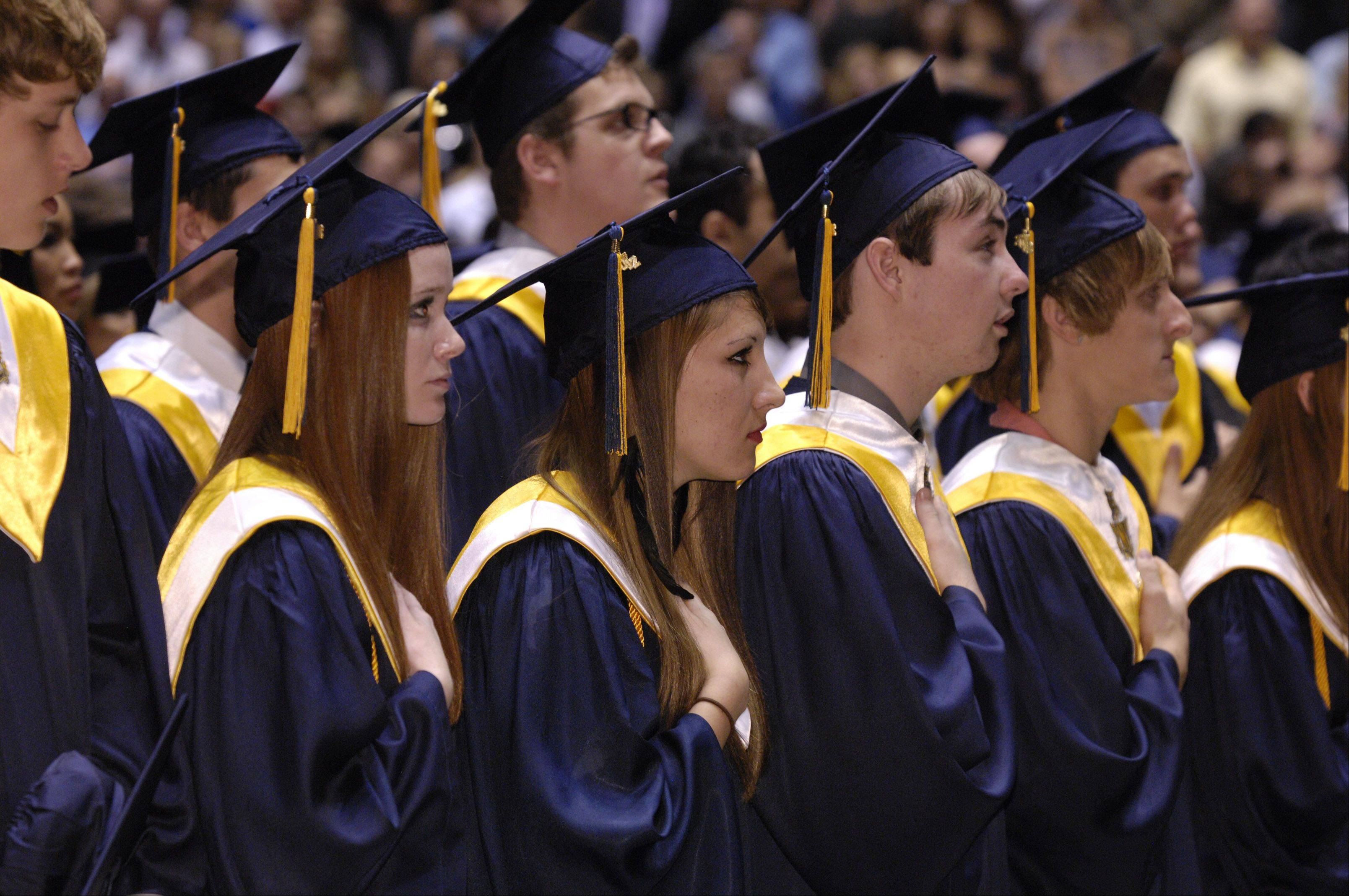 Neuqua Valley High School held its graduation Sunday in DeKalb at the NIU Convocation Center.