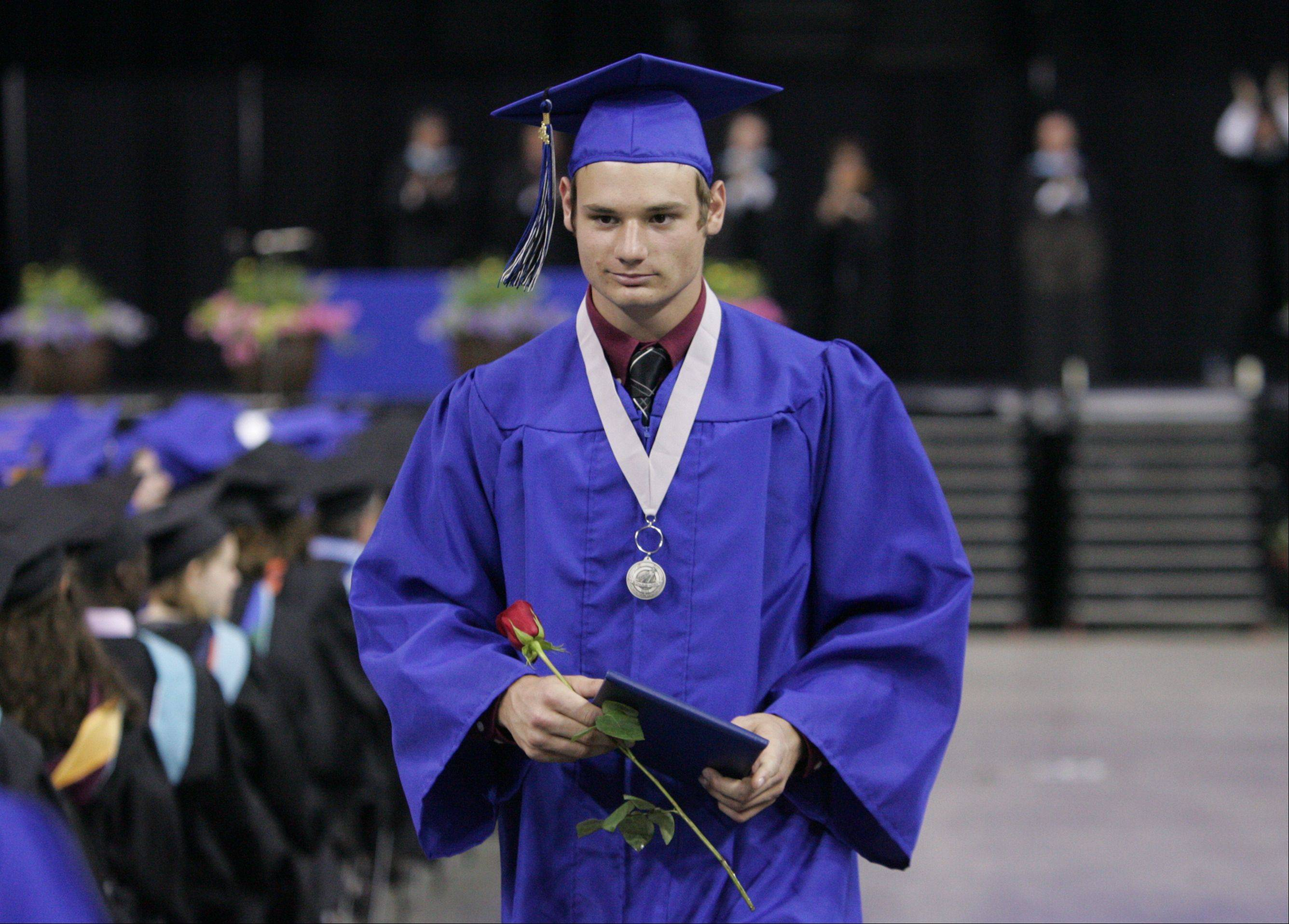 Images from the St. Charles North High School graduation ceremony Sunday, May 27, 2012 at the Sears Centre in Hoffman Estates.