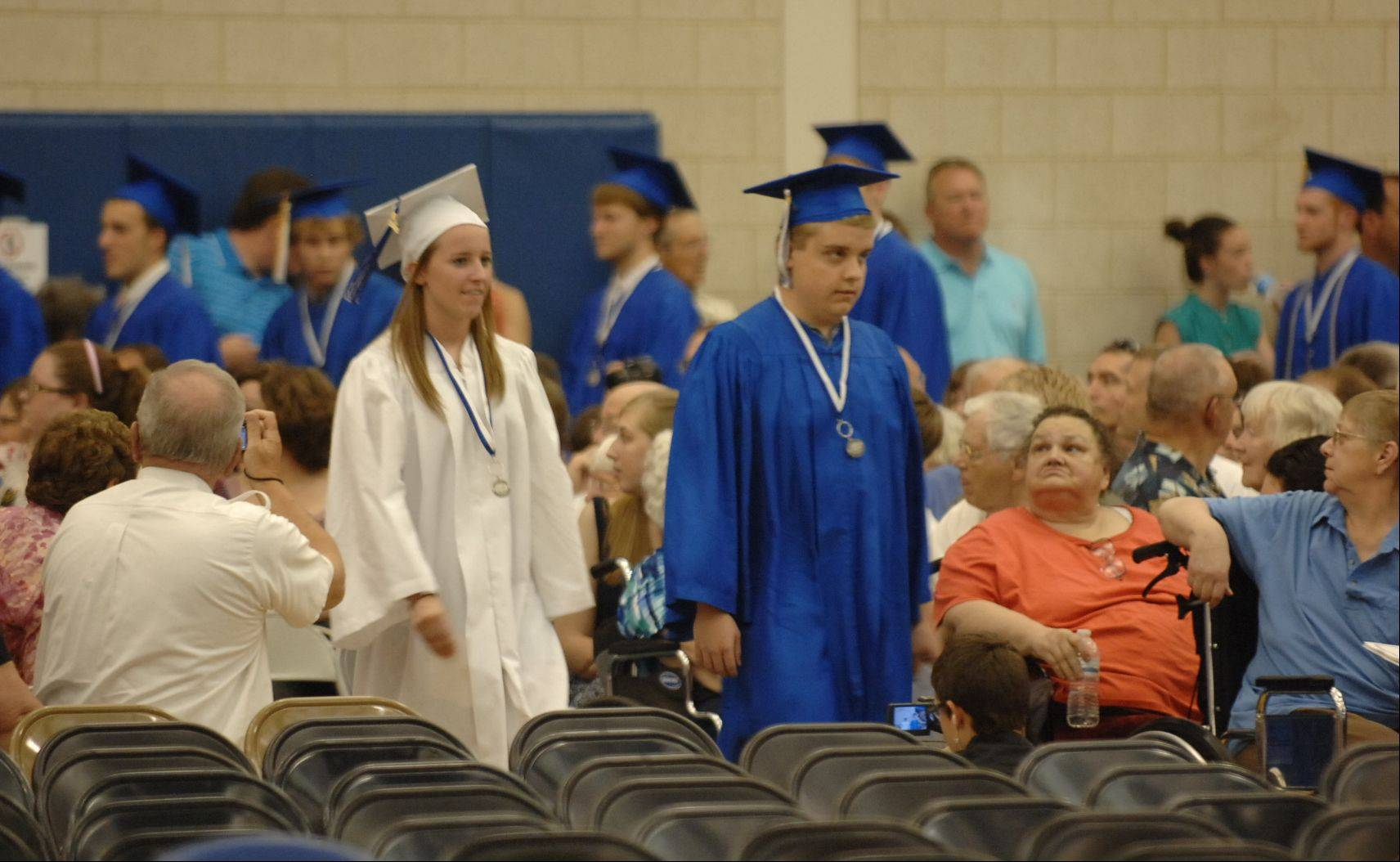 Images from the Geneva High School graduation ceremony Sunday, May 27, 2012.