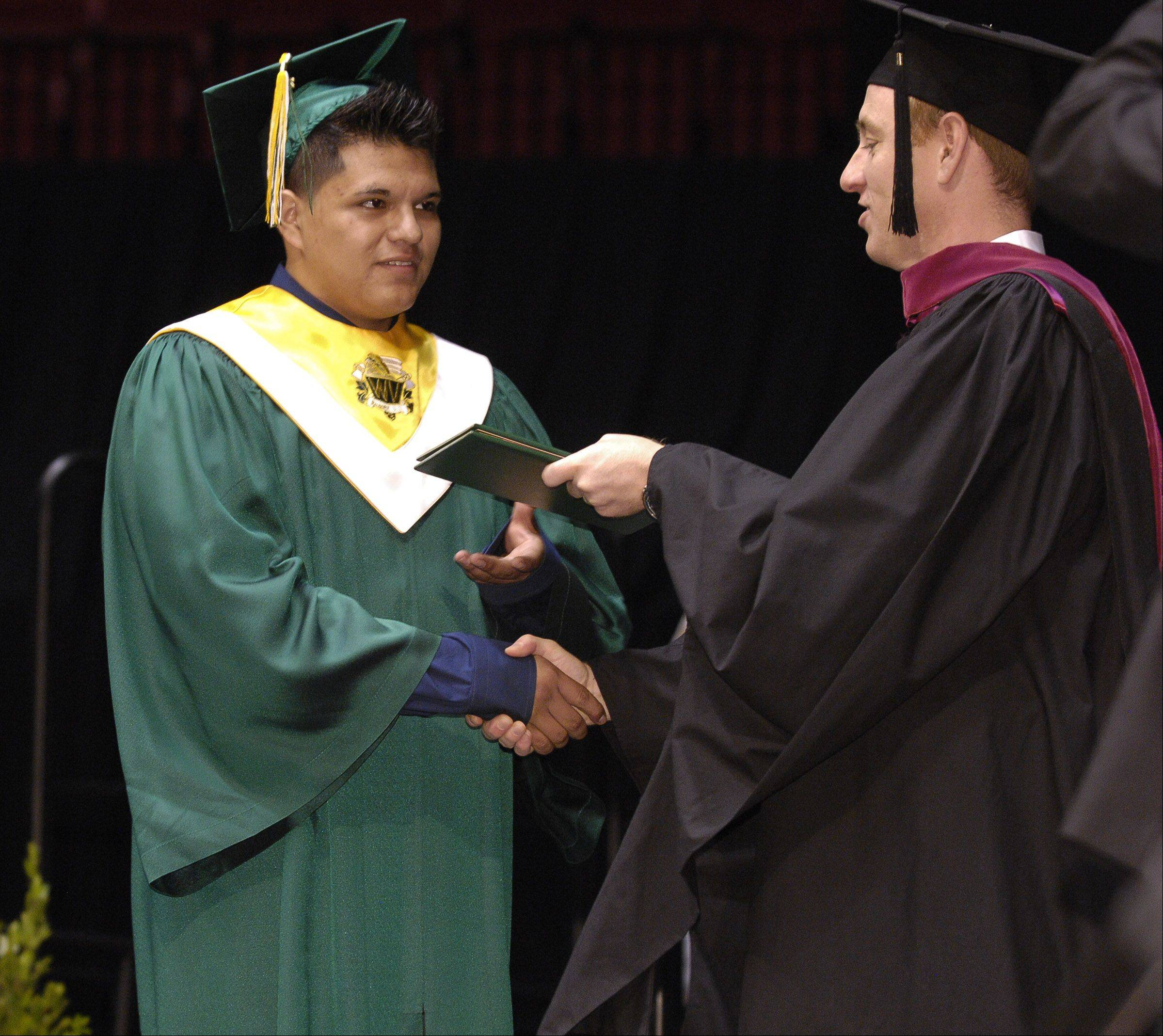 Waubonsie Valley High School held its graduation Sunday in DeKalb at NIU's Convocation Center.