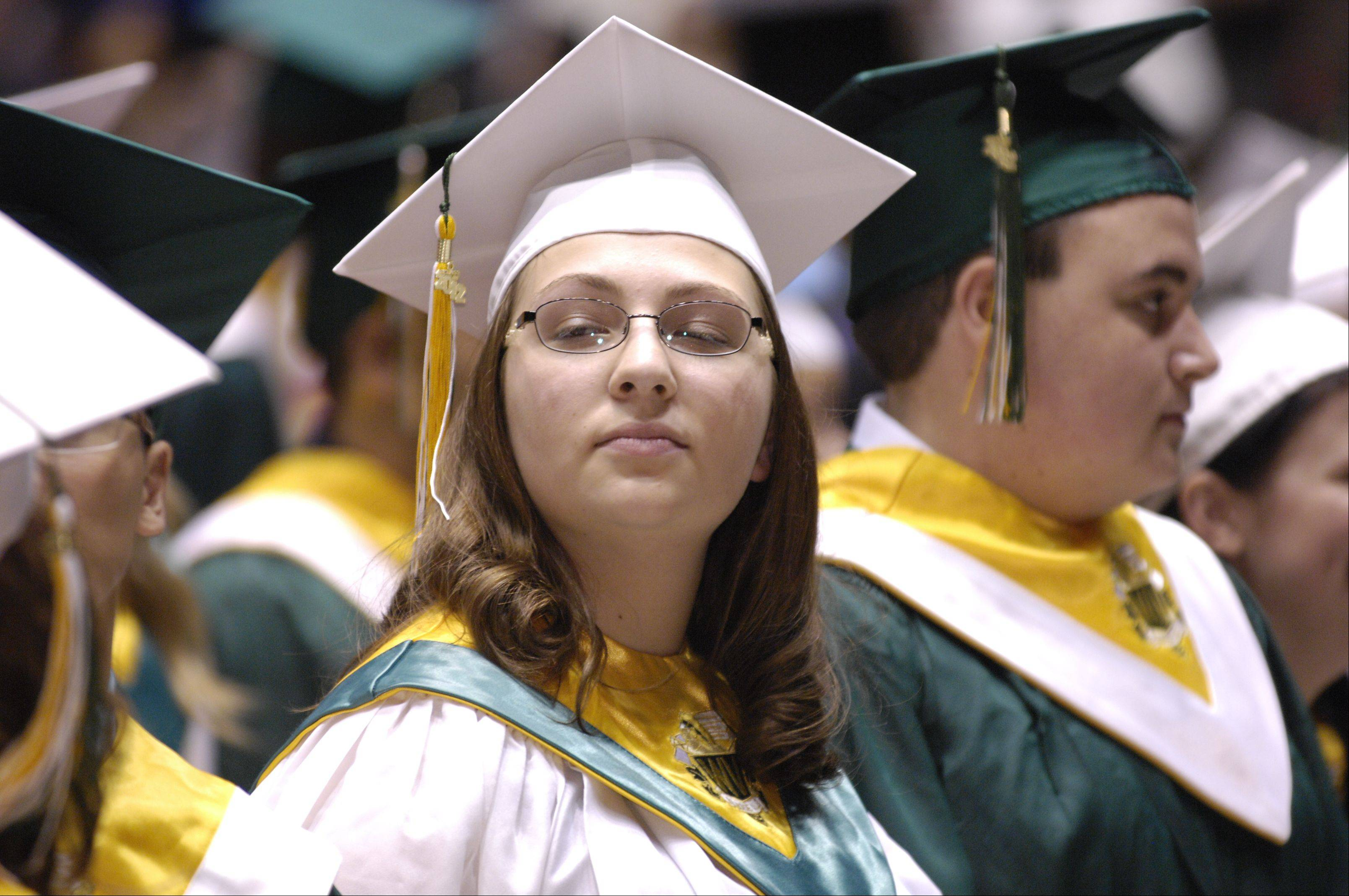 Waubonsie Valley High School held its graduation Sunday in DeKalb at the NIU Convocation Center.