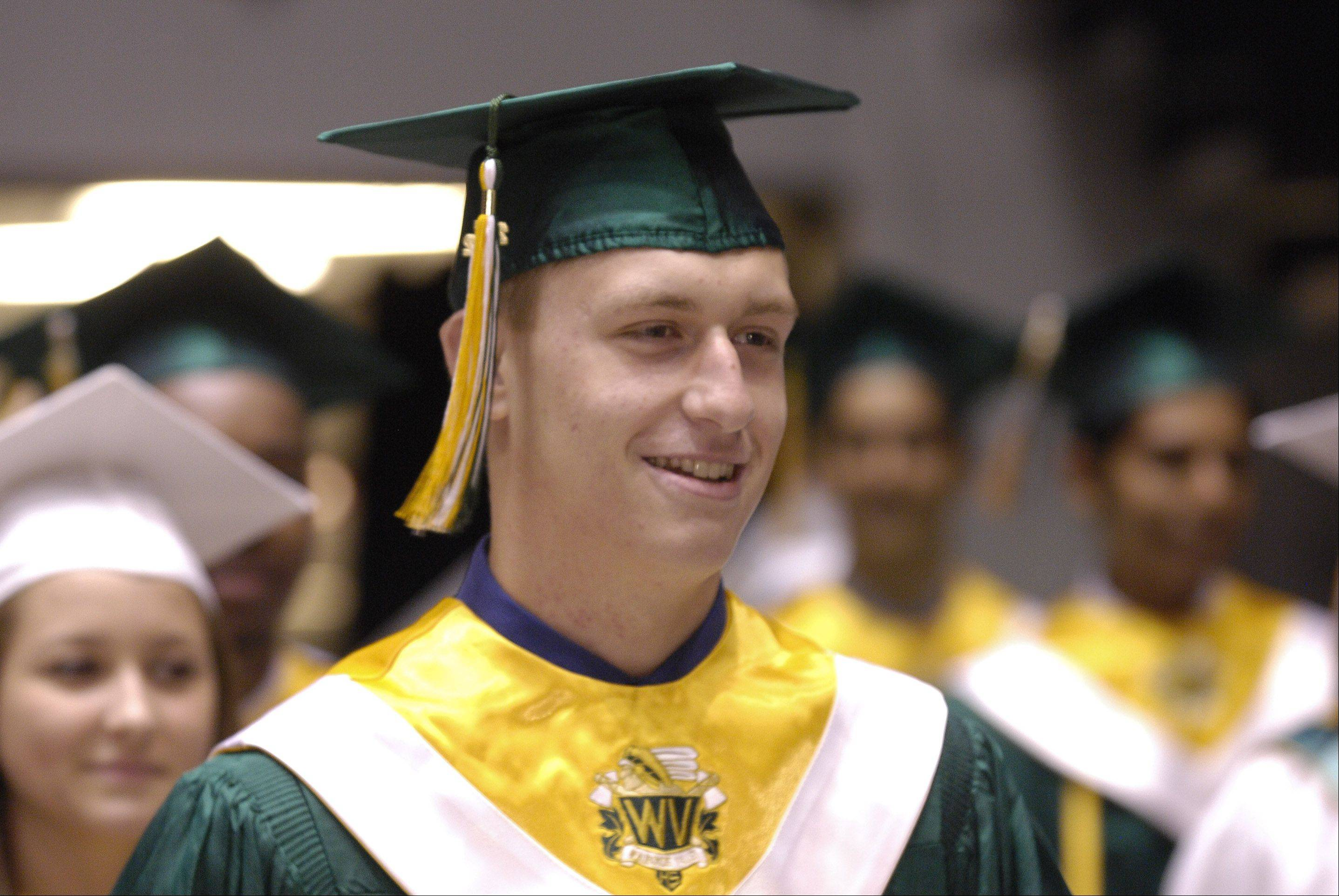 Waubonsie Valley High School held its graduation ceremony Sunday in DeKalb at the NIU Convocation Center.