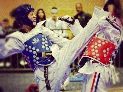 Carolena Carstens, left, a 16-year-old from Glen Ellyn, will be representing Panama in the 2012 Olympics in London this summer in taekwondo.