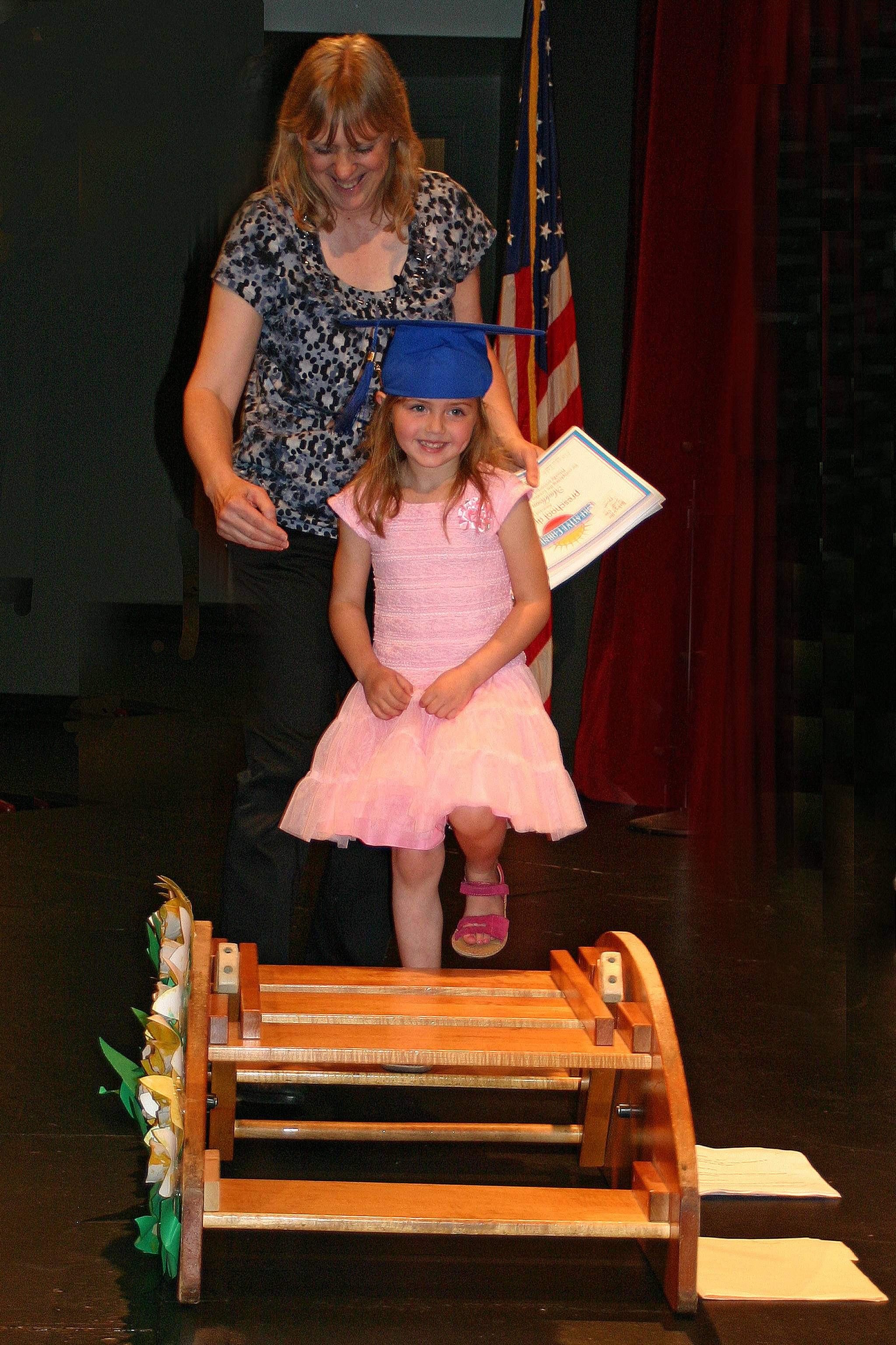 Madison Lahaie is one of 49 who graduated from the Des Plaines Park District Creative Corners Preschool on May 17.