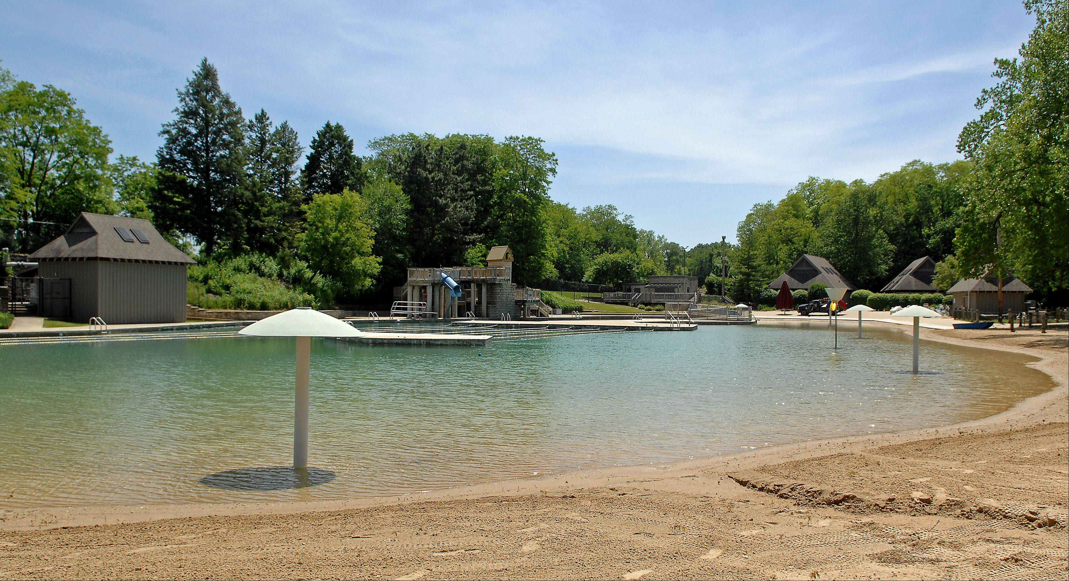 Harold Hall Quarry Beach in Batavia will open Friday. Last fall and winter, the park district replaced a liner beneath the swimming area and put a concrete liner in the diving area to stop water from leaking out. Doing so should improve the temperature of the Quarry, making it more comfortable for swimmers.