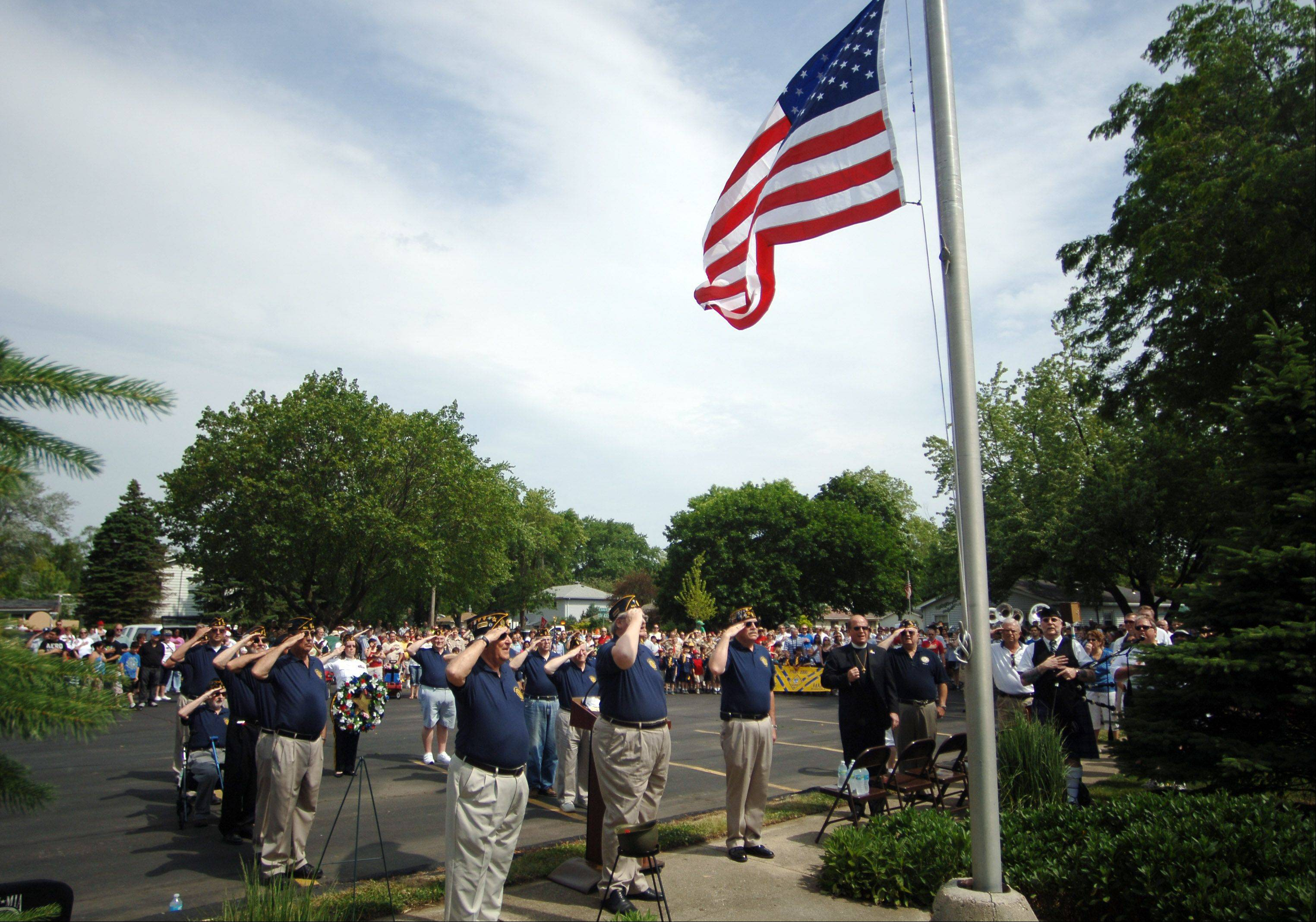 The village of Mundelein held their Memorial Day ceremony in Memorial Park on Monday.