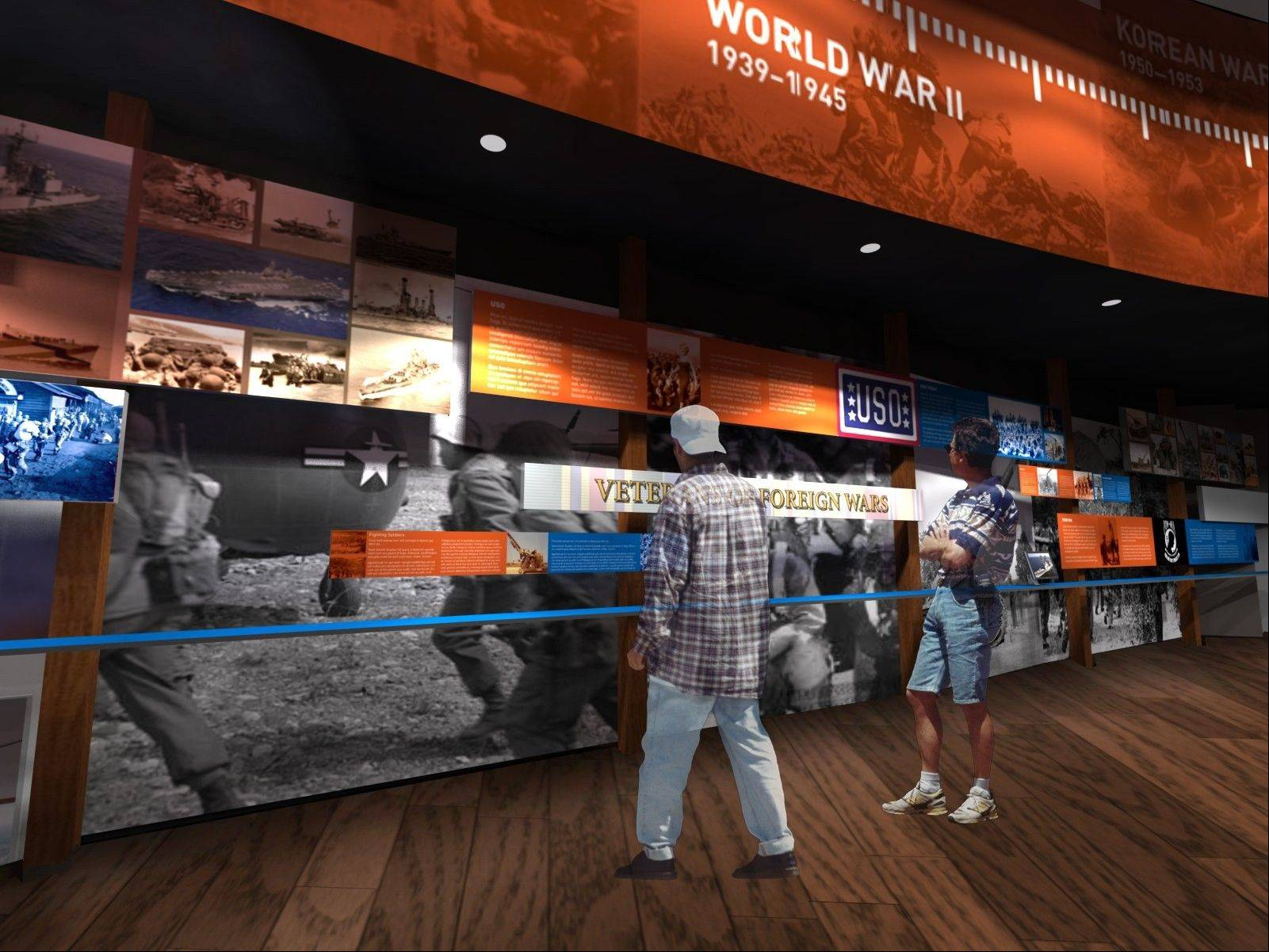 This is a view of what the interior of the proposed National Veterans Museum in Hoffman Estates might look like.