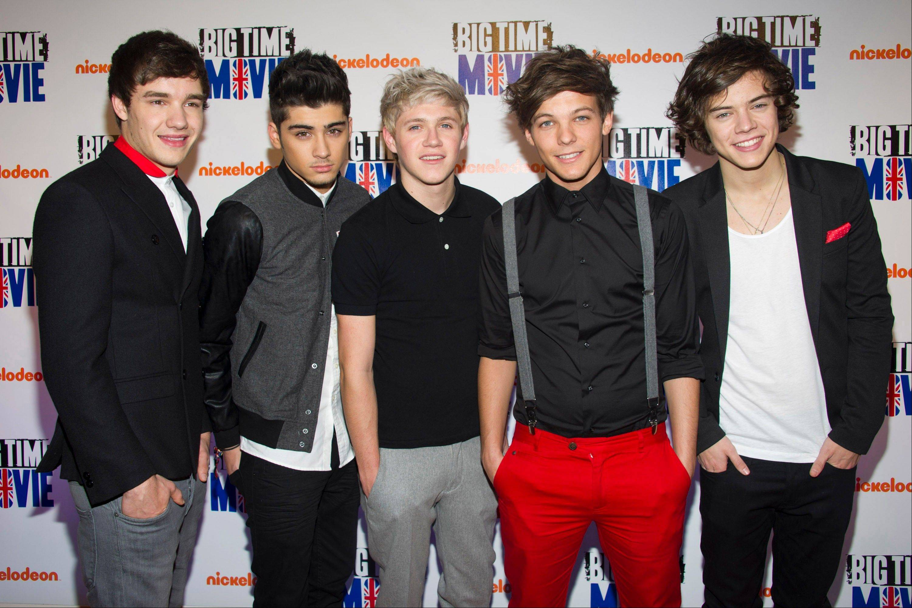 Members of the British-Irish boy band One Direction, (Liam Payne, Zayn Malik, Niall Horan, Louis Tomlinson and Harry Styles), are set to perform at the Allstate Arena in Rosemont.