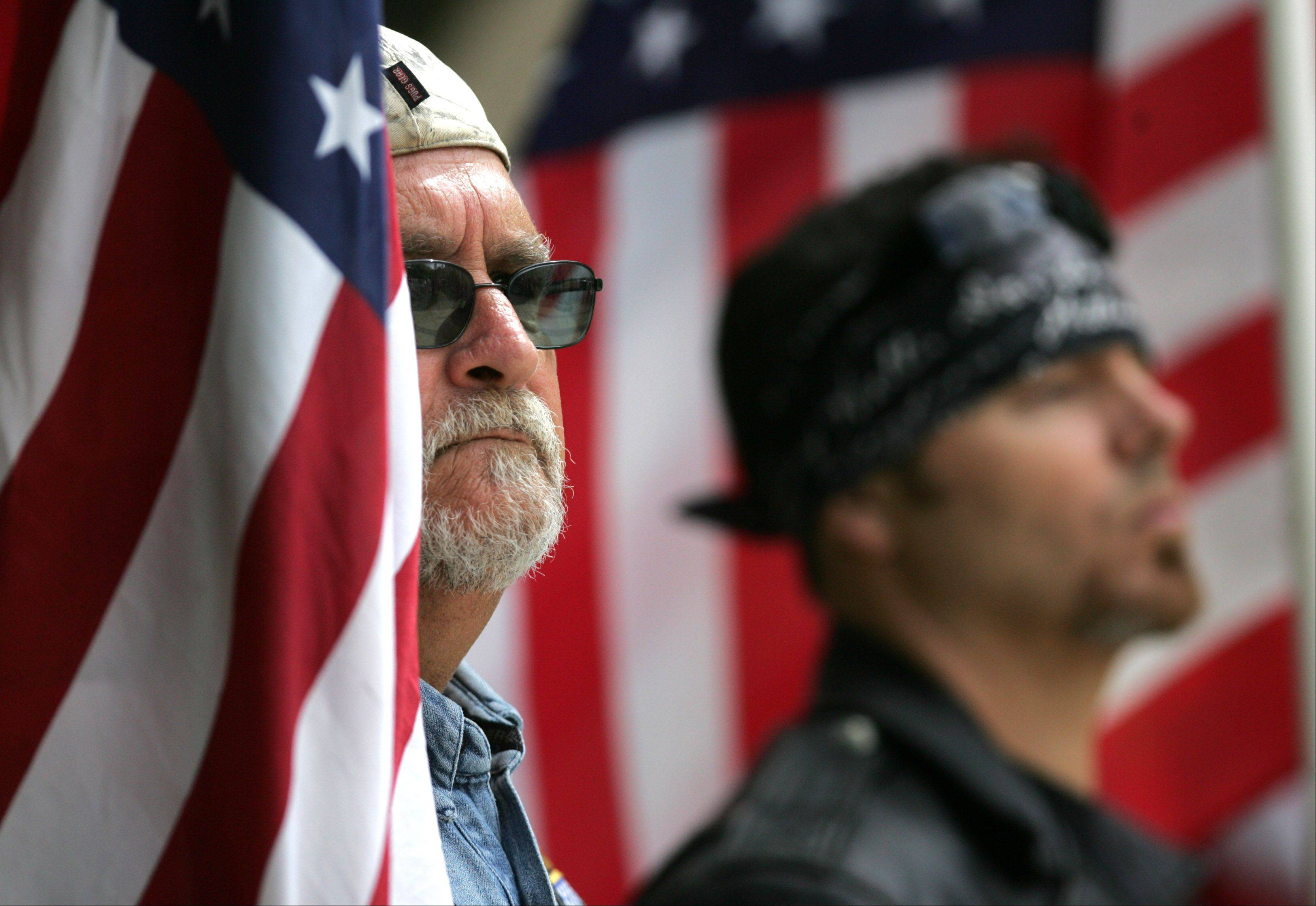 About 40 members of the Patriot Guard led the funeral procession to Wheaton Cemetery.
