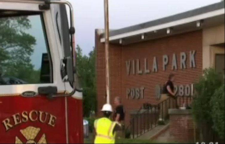 COURTESY OF ABC 7Rescue personnel responded to reports of an explosion in the basement of the Villa Park VFW on Tuesday evening.