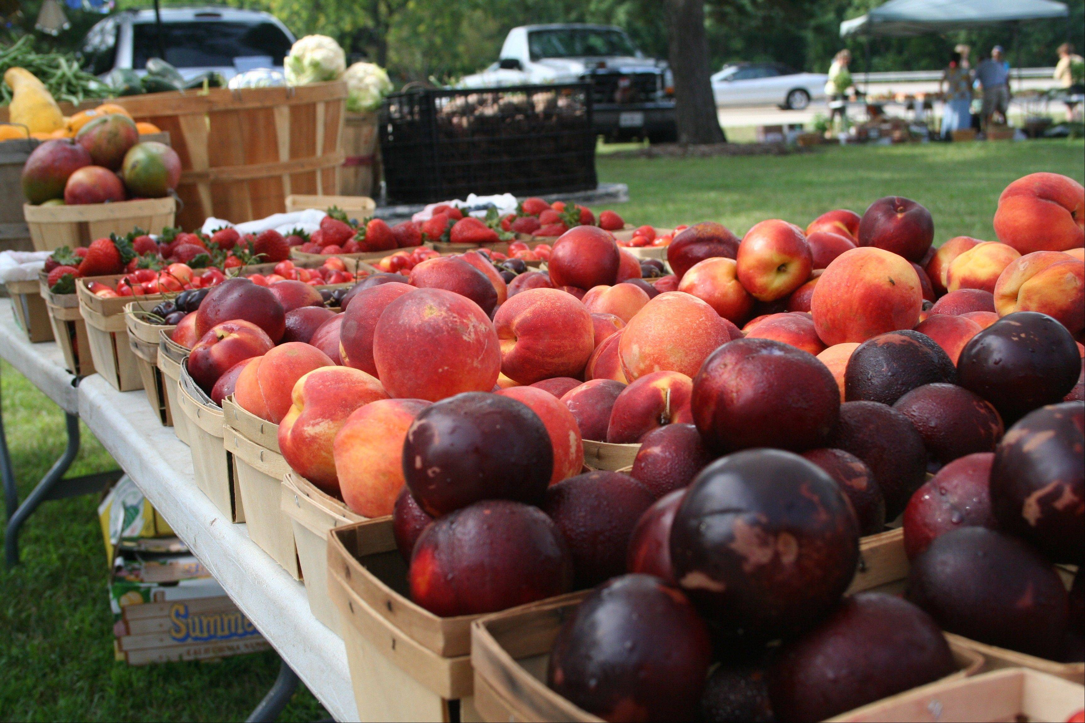 Bountiful fruits, vegetables and more await visitors to the Gurnee Park District's weekly farmers market starting June 8.