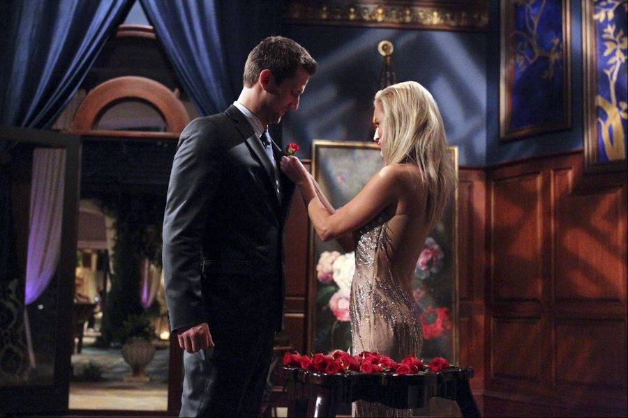 "Chris Bukowski gets a rose from Emily Maynard, the single mom who is the star of this season's ""Bachelorette."""