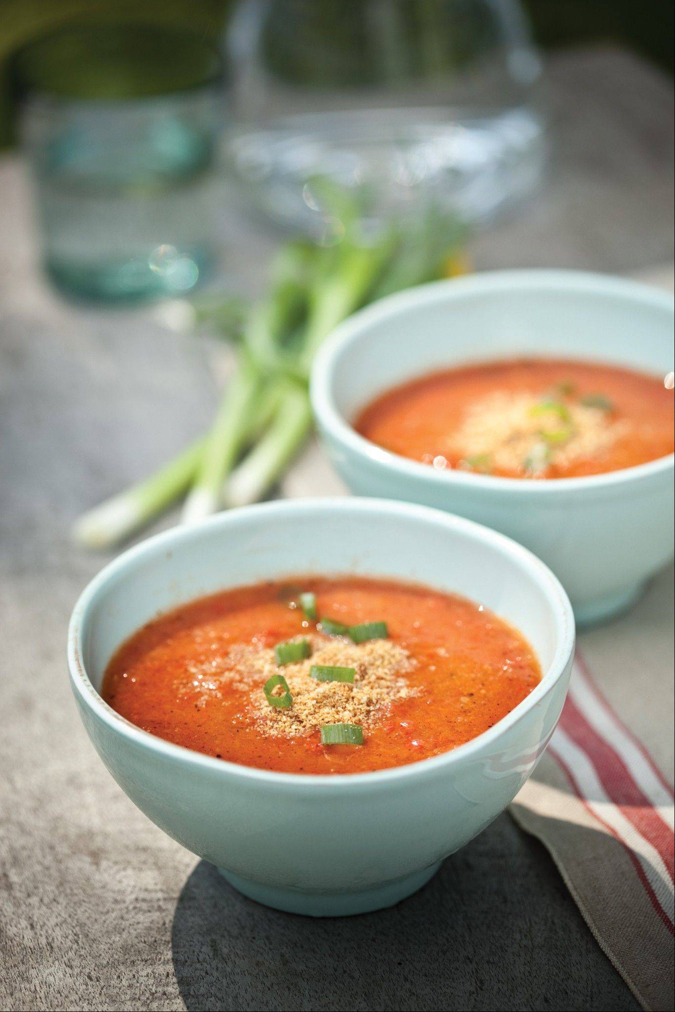 This summery Grilled Gazpacho and more grilled vegetable recipes on Page 8.