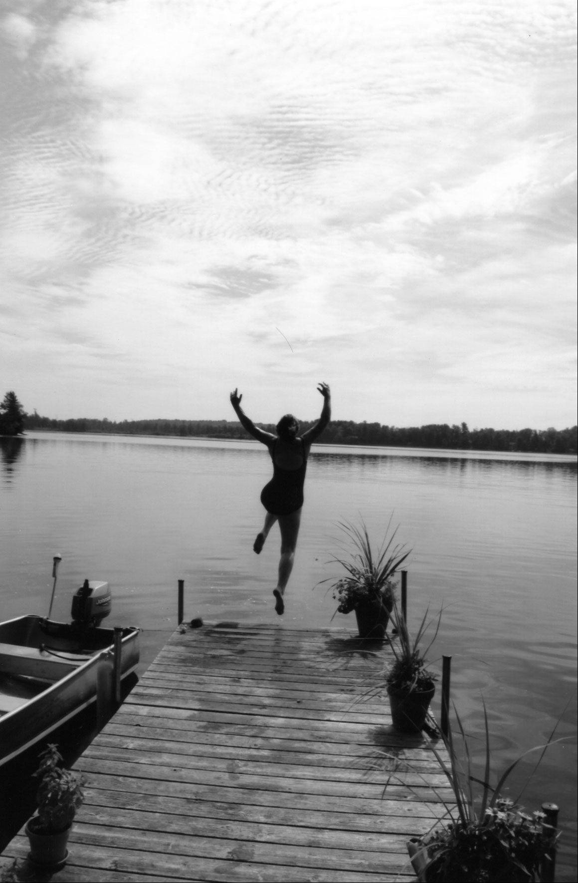 "Jumping into the lake is a great way to cool off on a hot summer's day. Batavia author Marnie Mamminga shares memories of her family's lake cabin in her recently published book, ""Return to Wake Robin."""