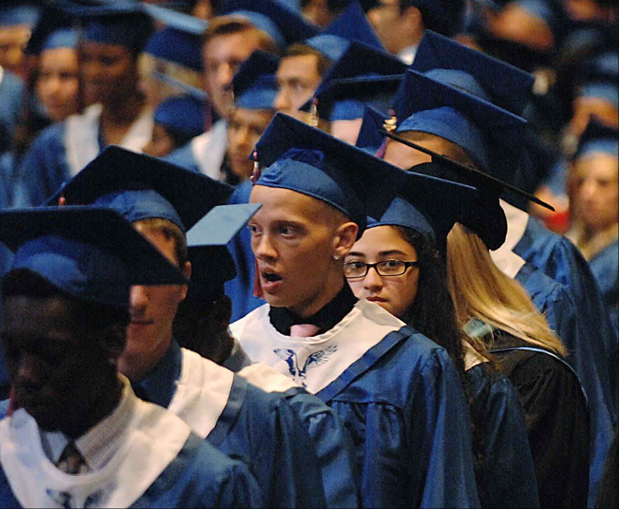 Images from the Hoffman Estates High School graduation on Thursday, May 31st, at Willow Creek Church in Barrington.