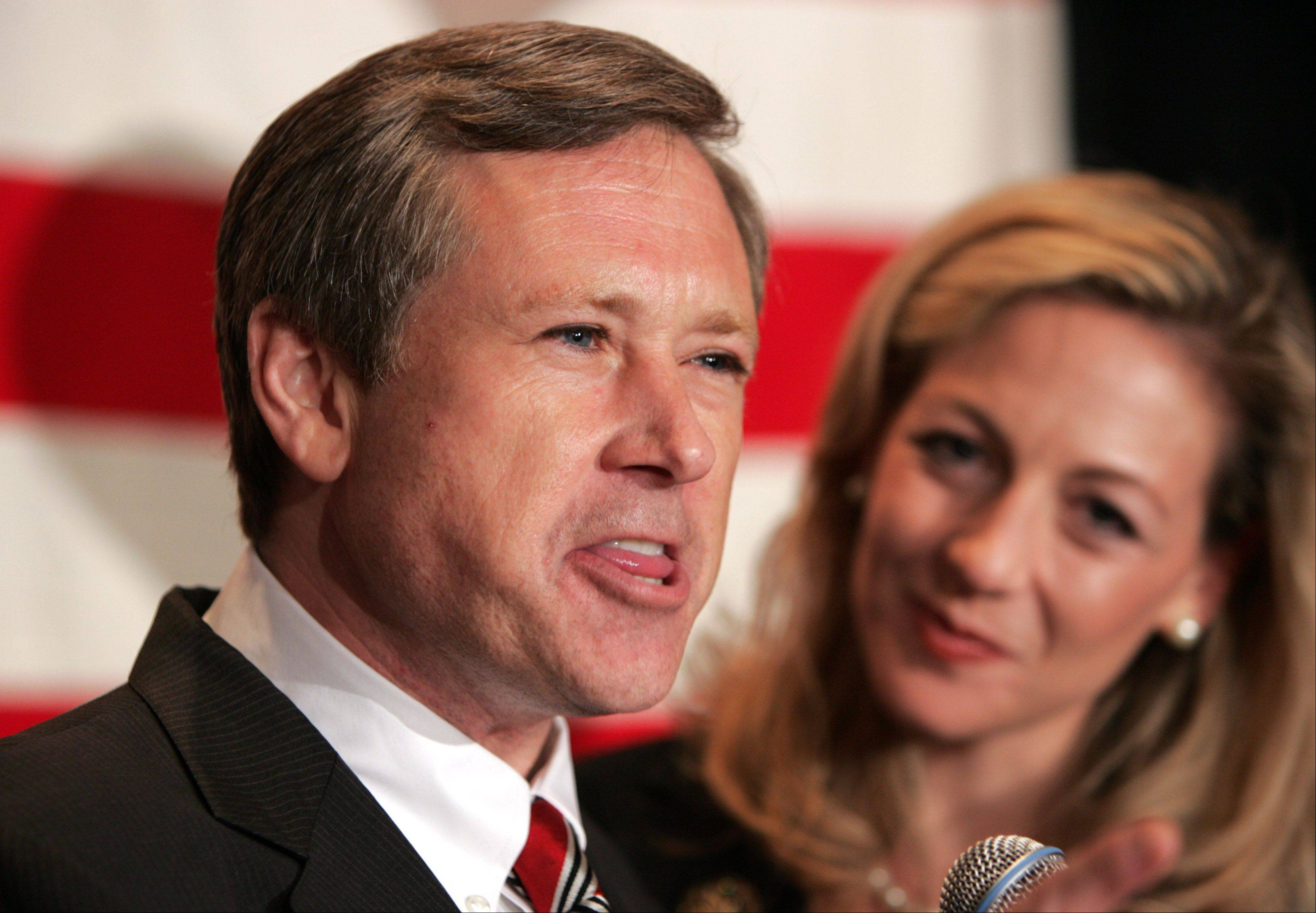 U.S.Rep Mark Kirk with his ex-wife Kimberly Vertolli.