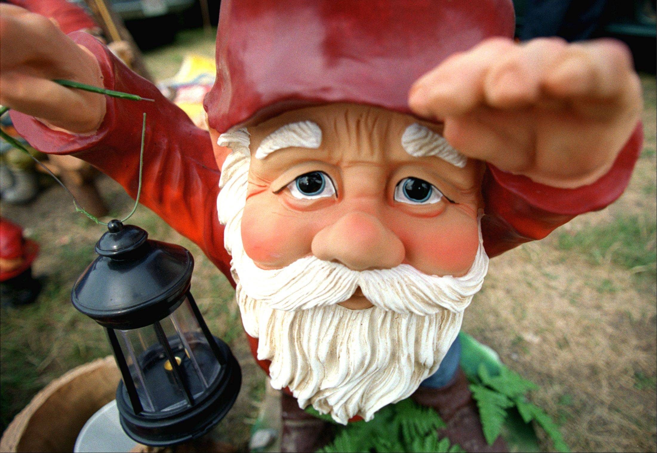 This battery-powered gnome with a working lamp proves that you never know what you might find at the Kane County Flea Market in St. Charles.