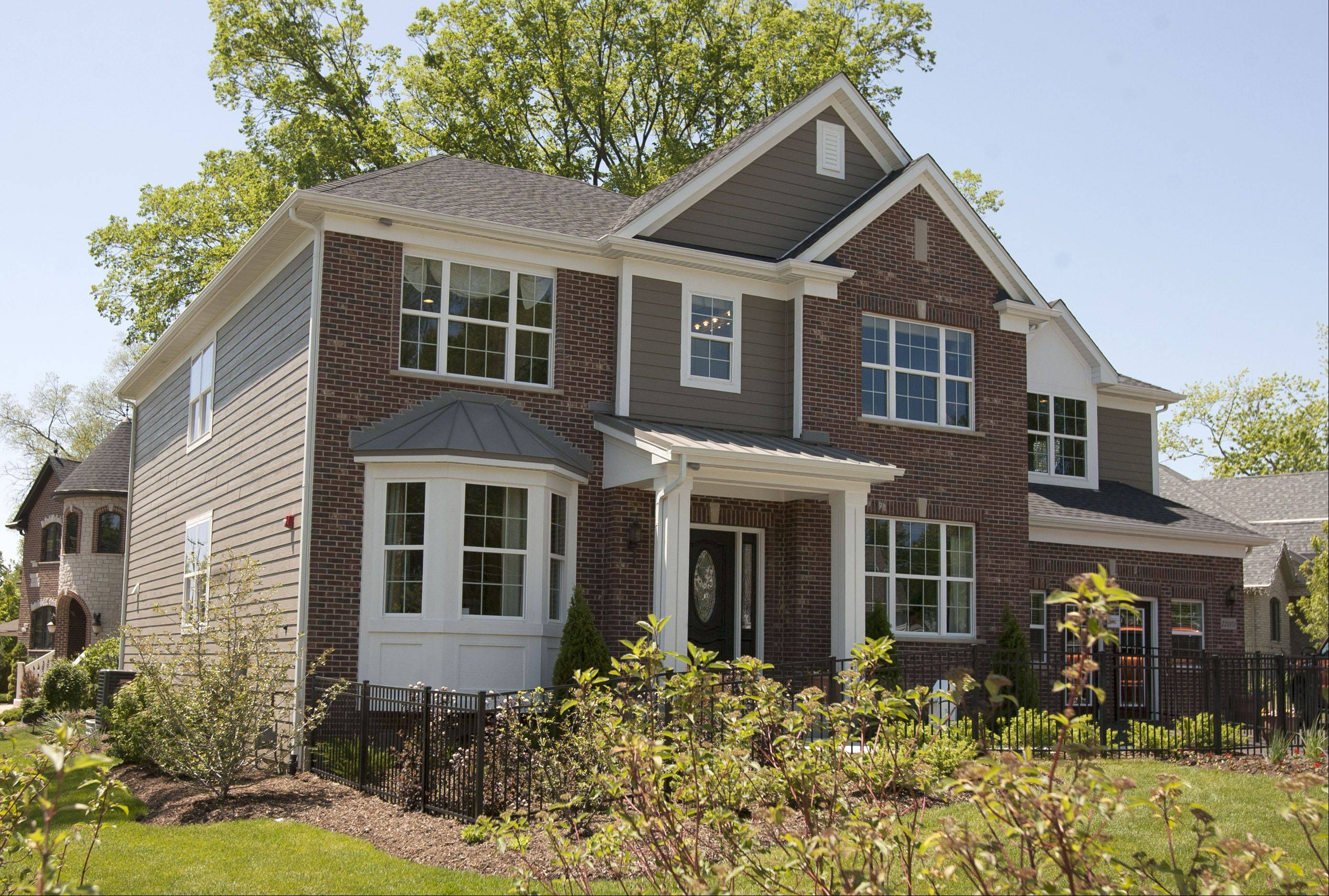 Glenrise Grove in Glen Ellyn will feature 34 two-story homes, including this Morton model, one of four available floor plans.