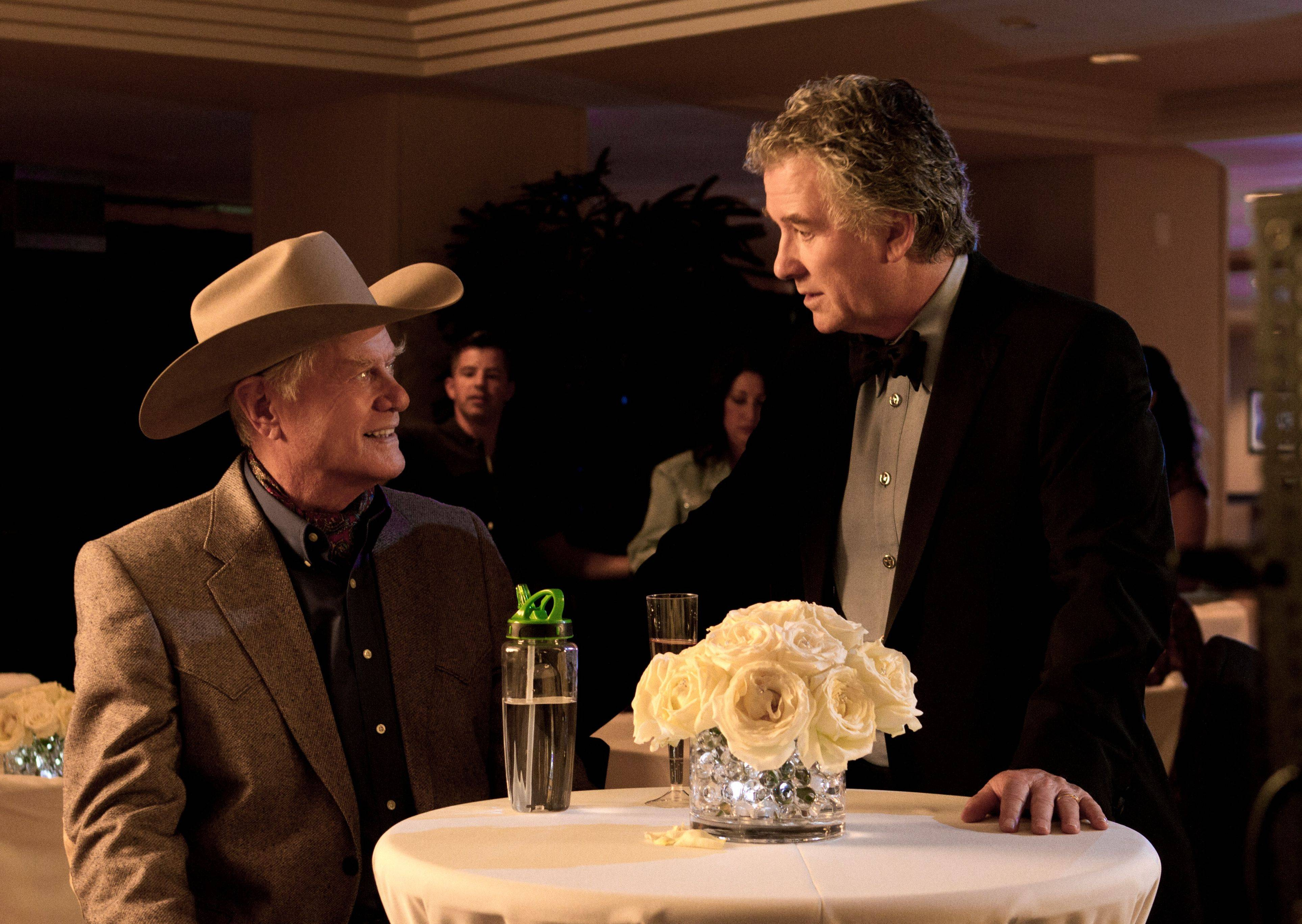 "The rivalry between J.R. (Larry Hagman) and Bobby Ewing continues in the new ""Dallas,"" coming to TNT."