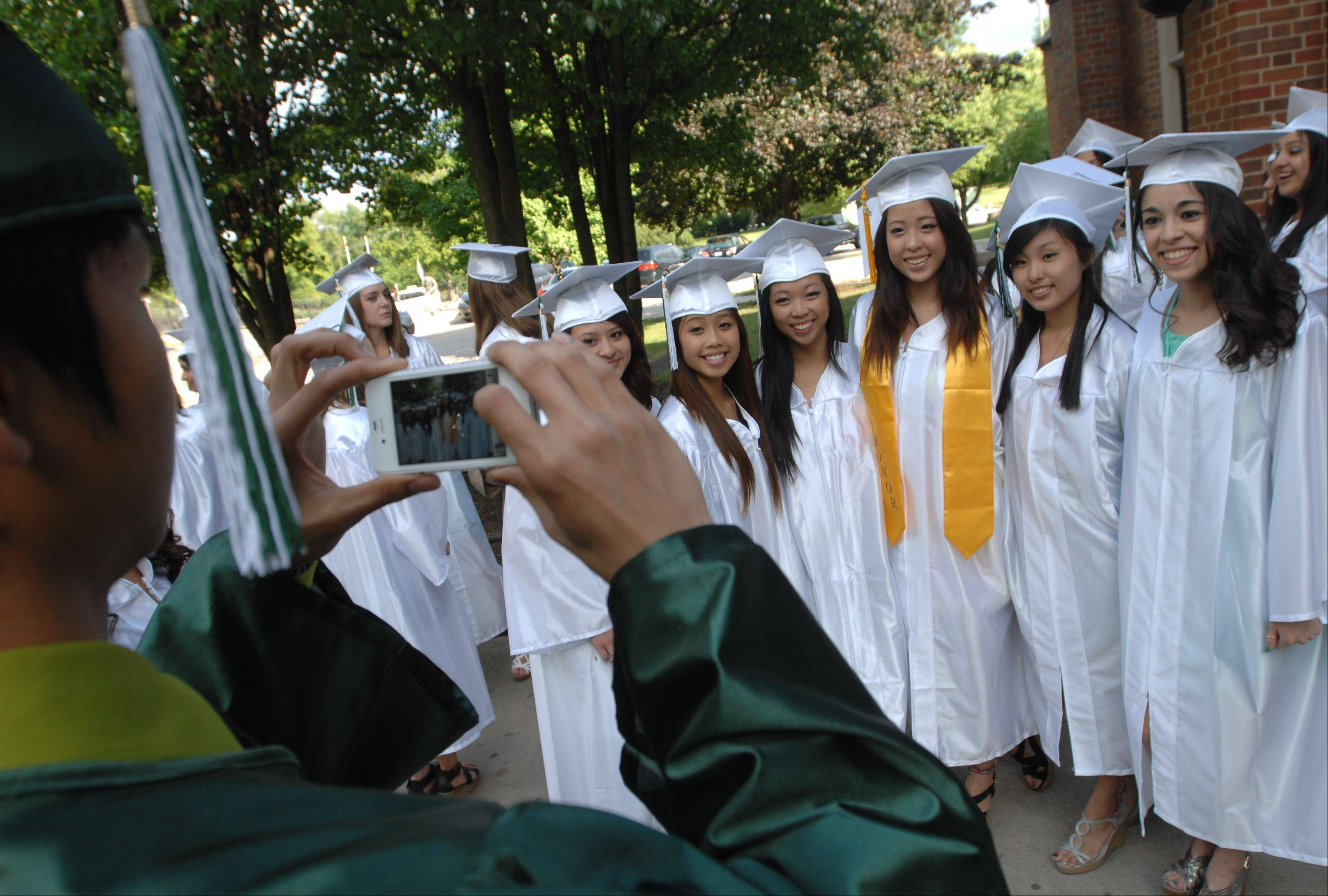Glenbard West High School held its graduation ceremony Friday at Glenbard West in Glen Ellyn.