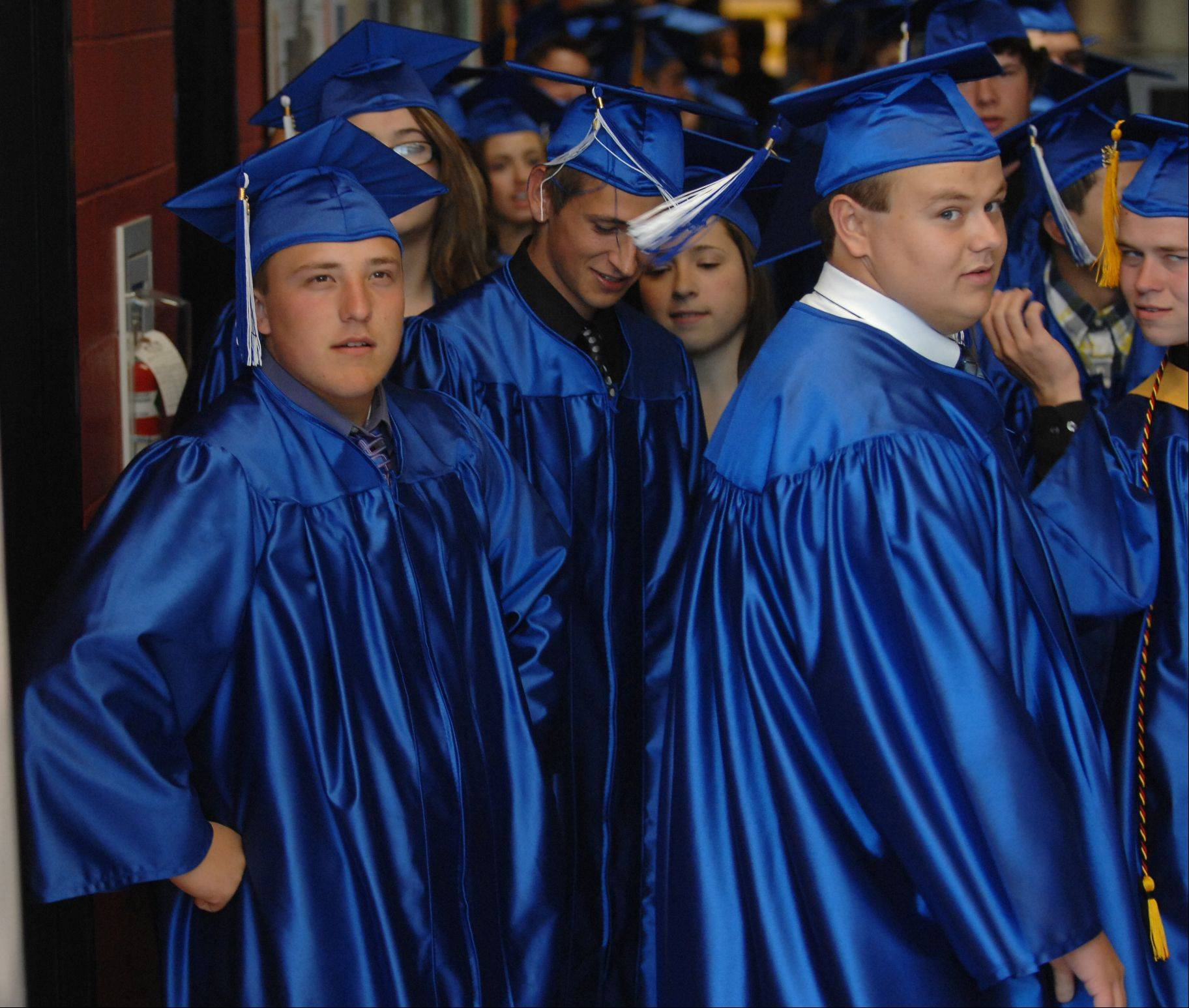 Images from the Burlington Central High School graduation ceremony Friday night, June 1, 2012 at Elgin Community College.