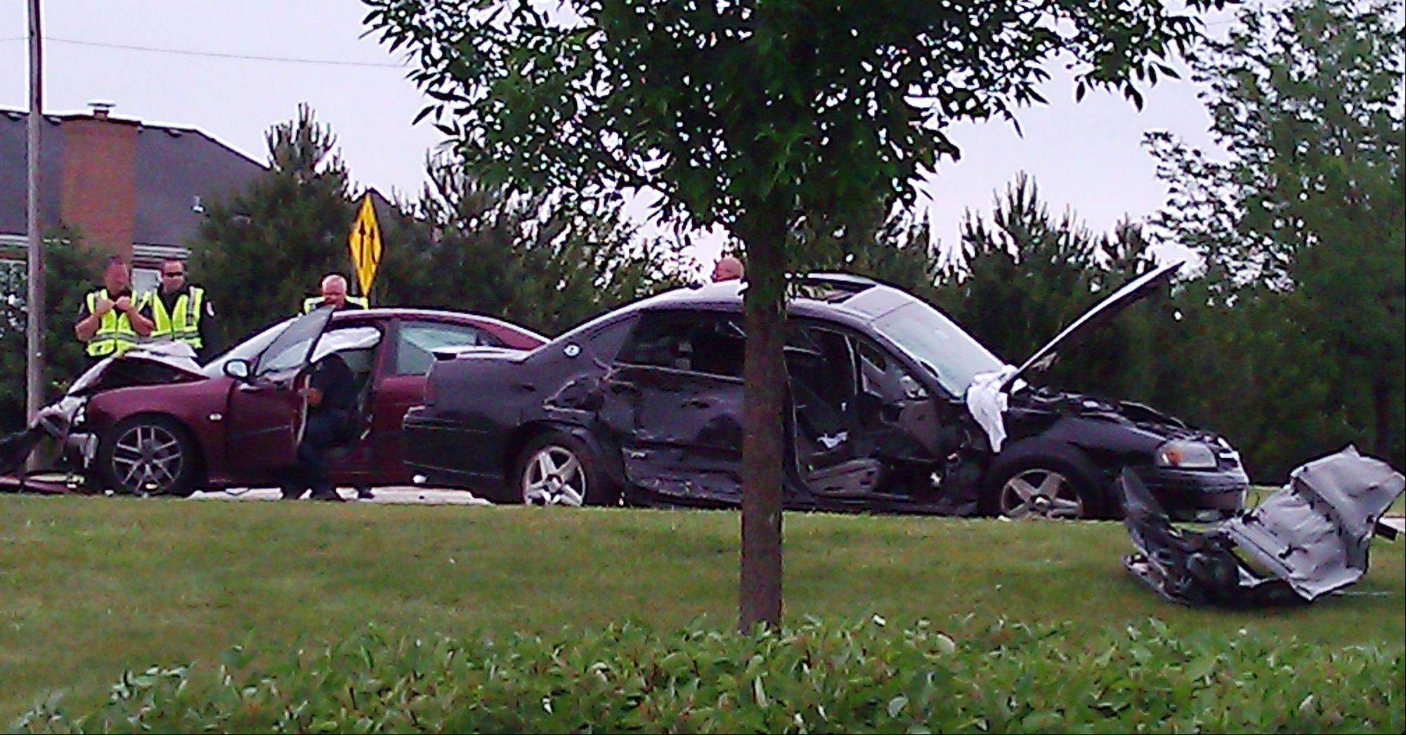 This is the scene of the fatal accident Friday morning at the intersection of Quentin Road and Euclid Avenue in Palatine.