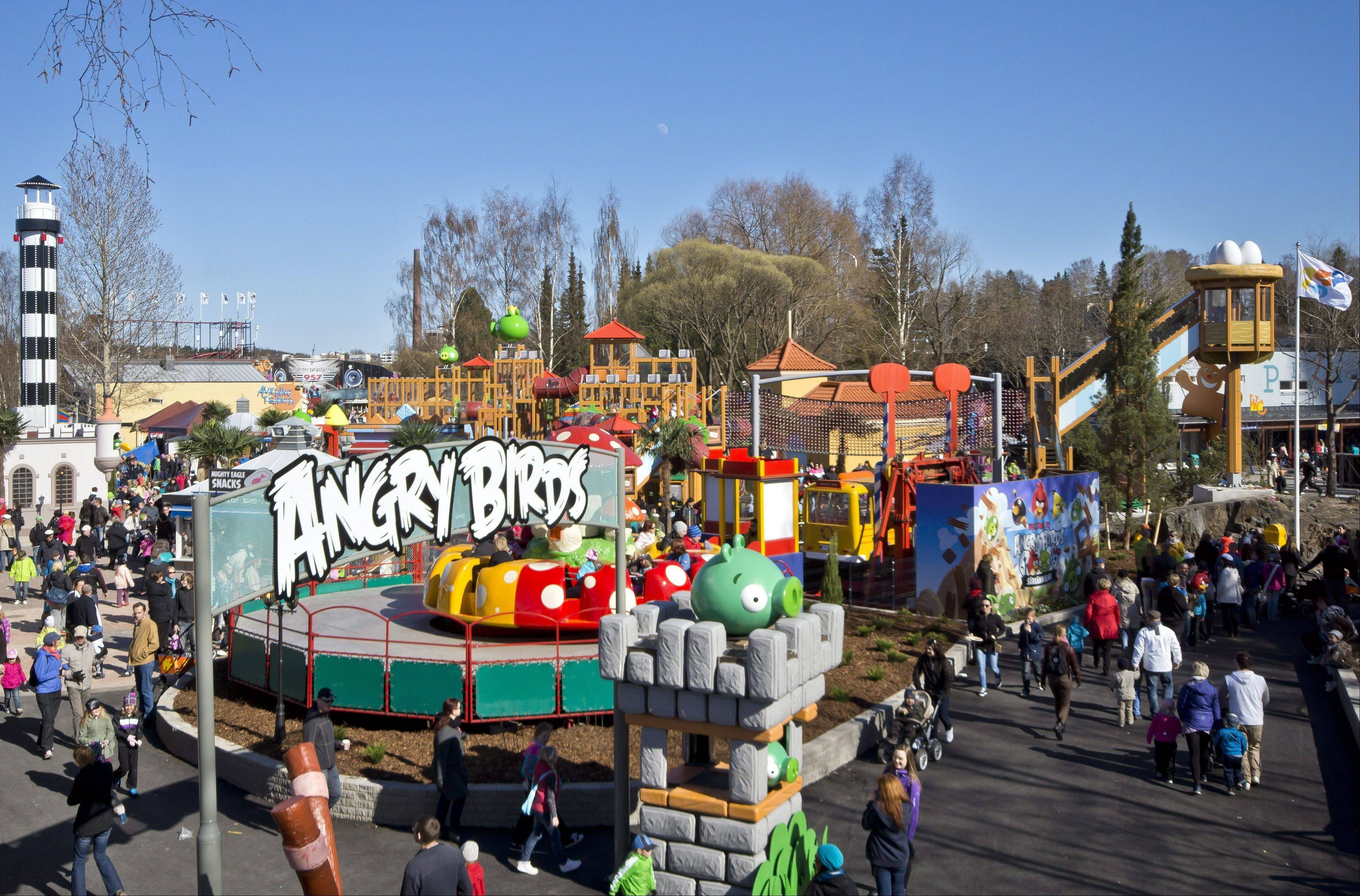 Angry Birds Land at the Sarkanniemi amusement park in Tampere, Finland.