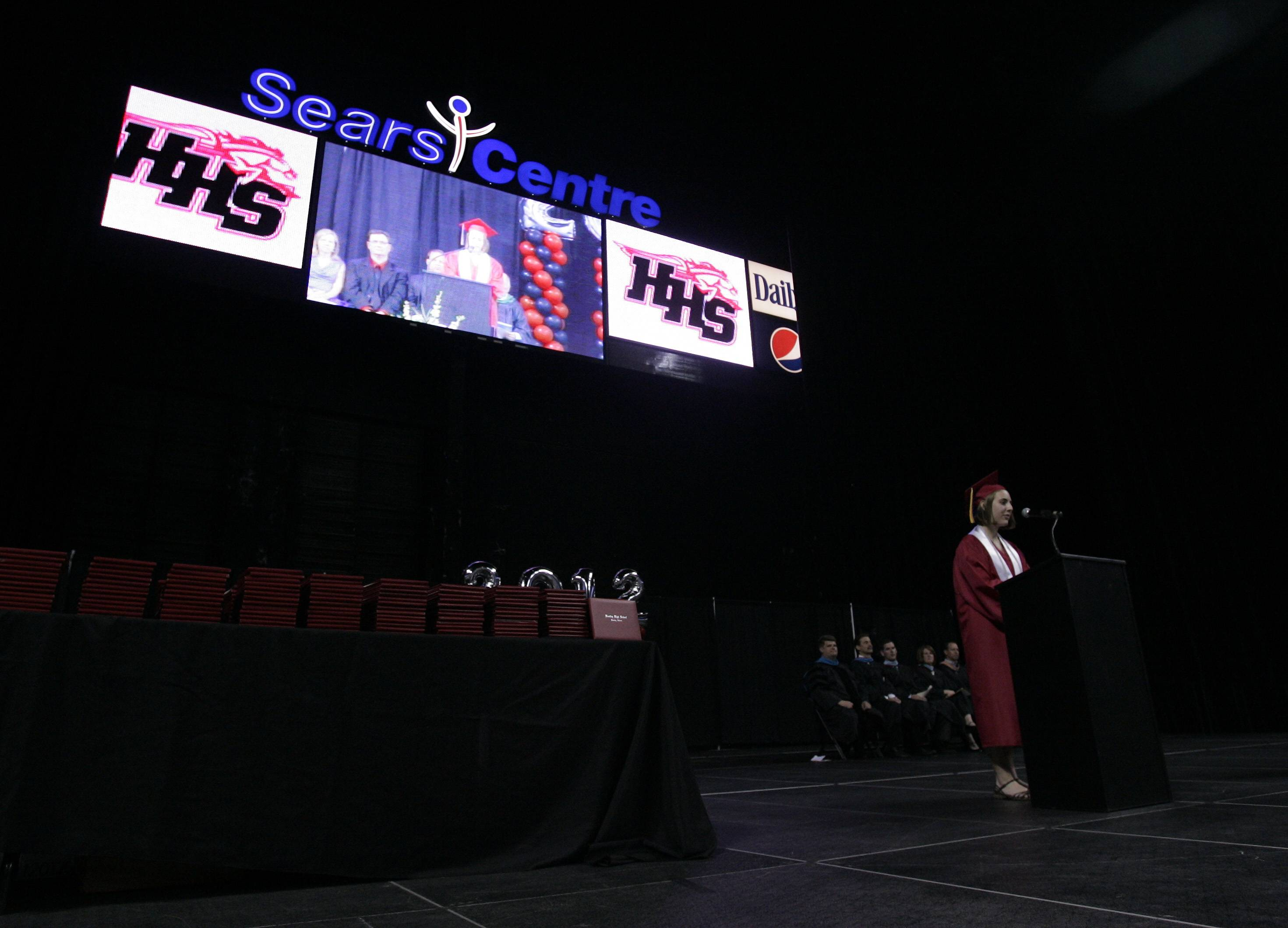 Images from the Huntley High School graduation ceremony at the Sears Centre in Hoffman Estates Saturday, June 2, 2012.