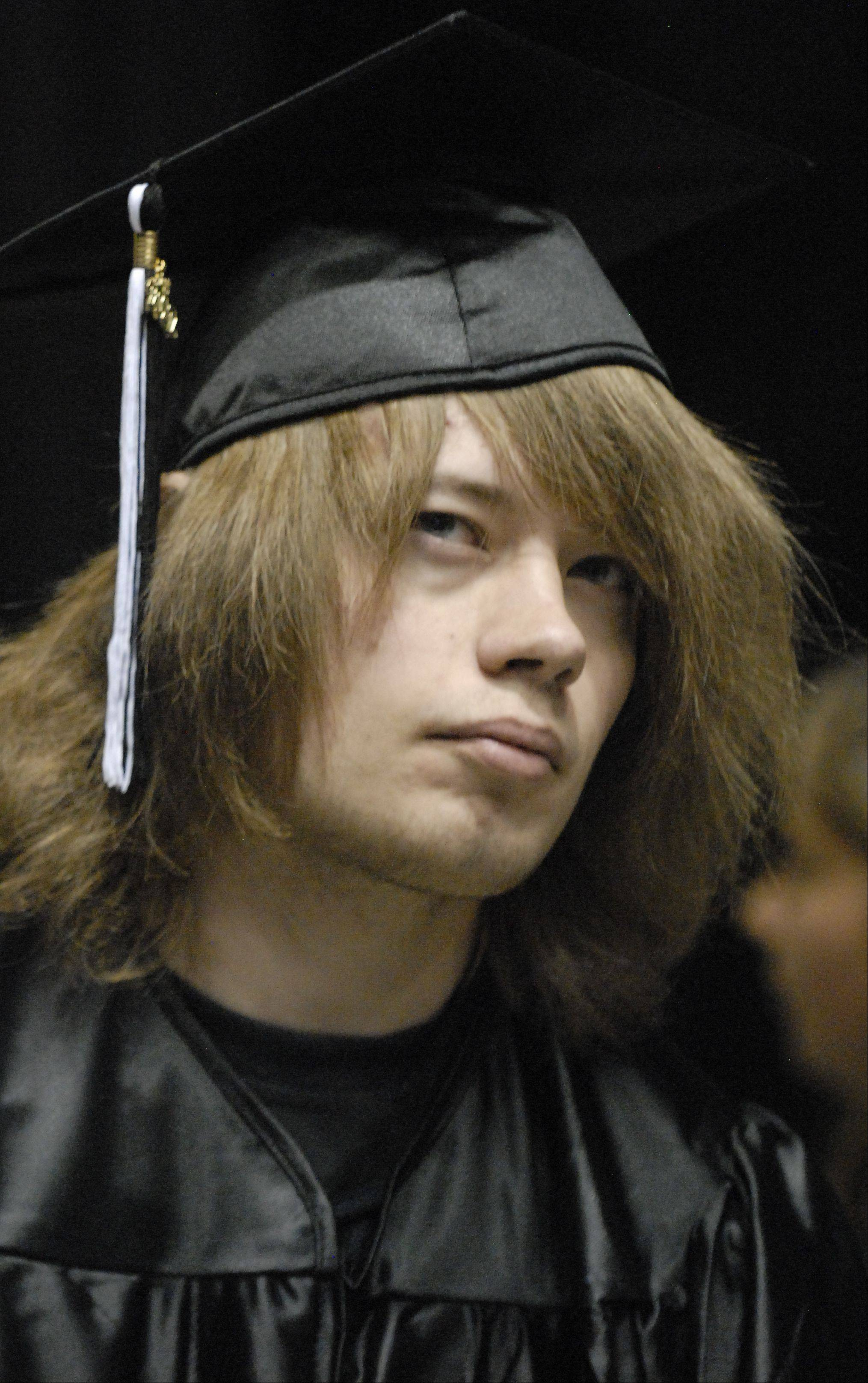 Images from the Kaneland High School graduation ceremony at the NIU Convocation Center in Dekalb Saturday, June 2, 2012.