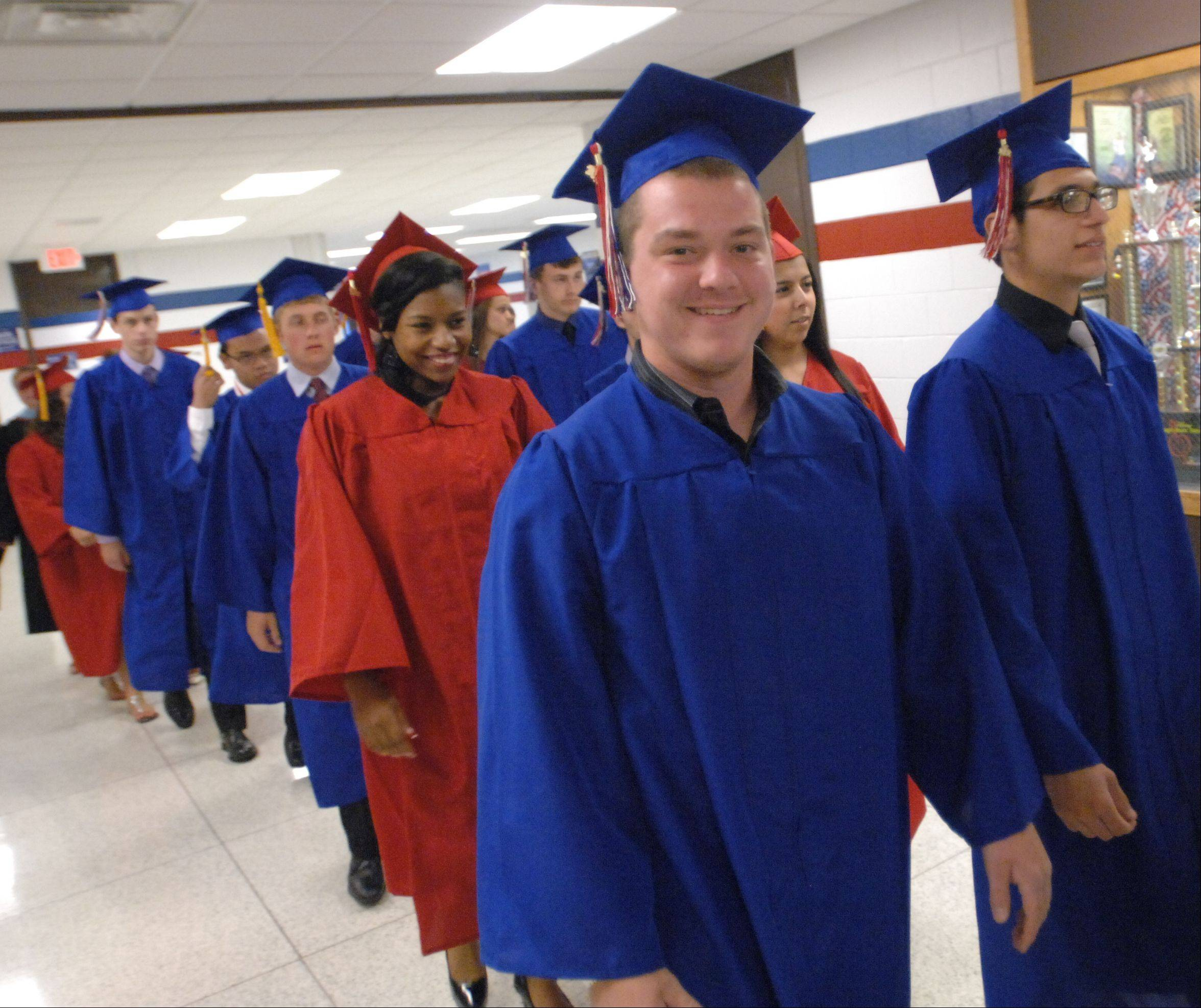 Glenbard South High School held its graduation ceremony Friday at Glenbard South in Glen Ellyn.